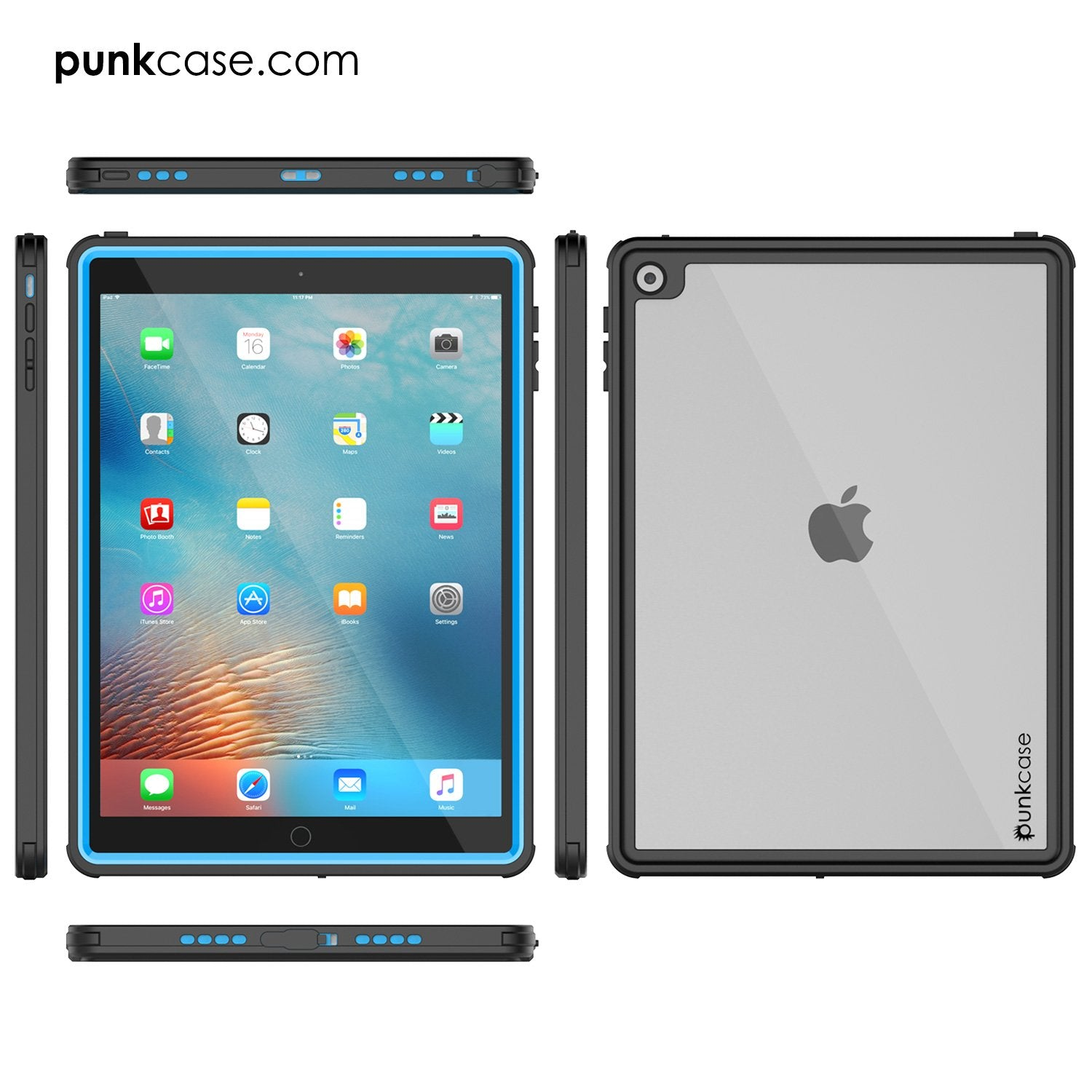 Punkcase iPad Pro 9.7 Case CRYSTAL Series Cover [Light Blue]