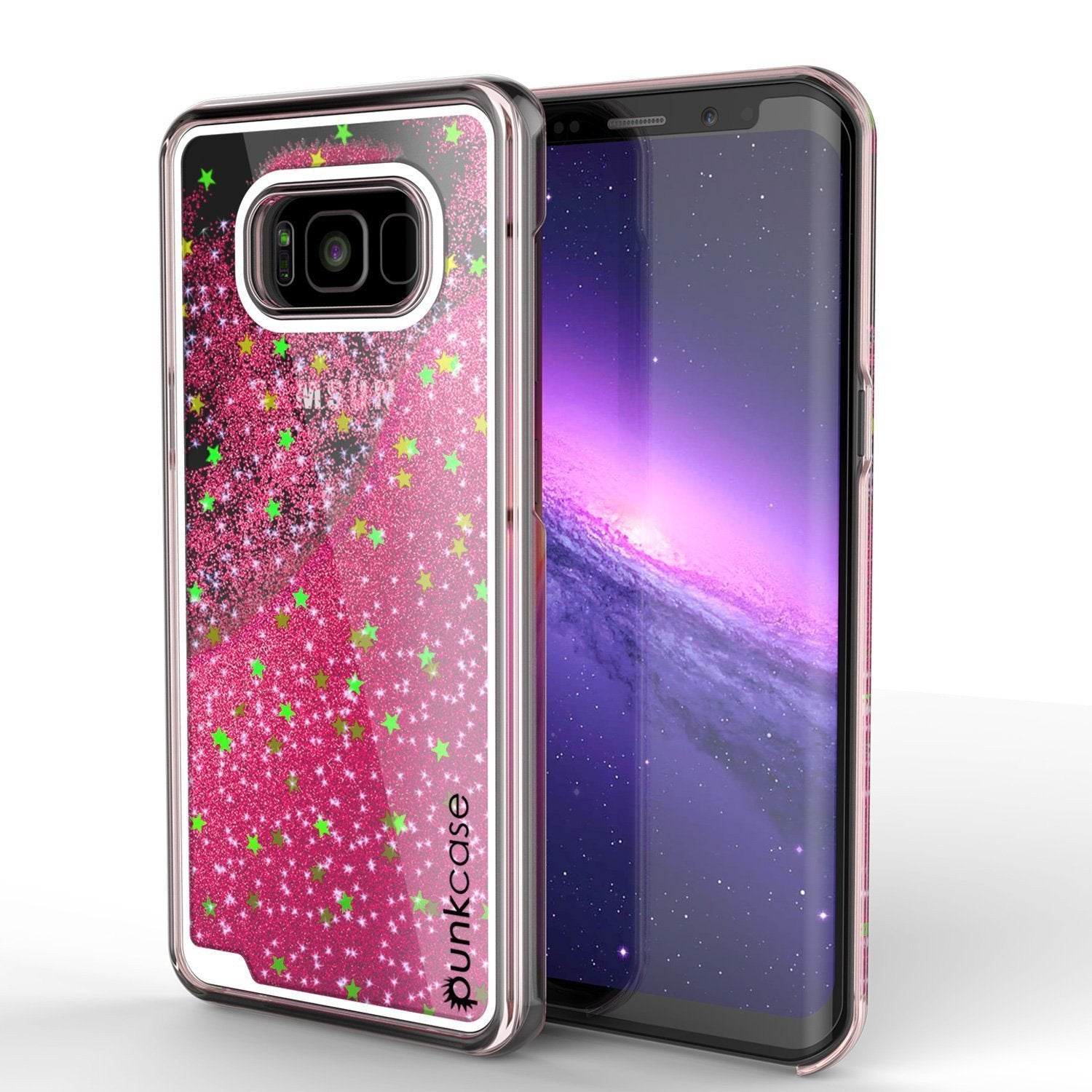 Galaxy S8 Plus Dual-Layer Screen Protective Glitter Case [Pink]