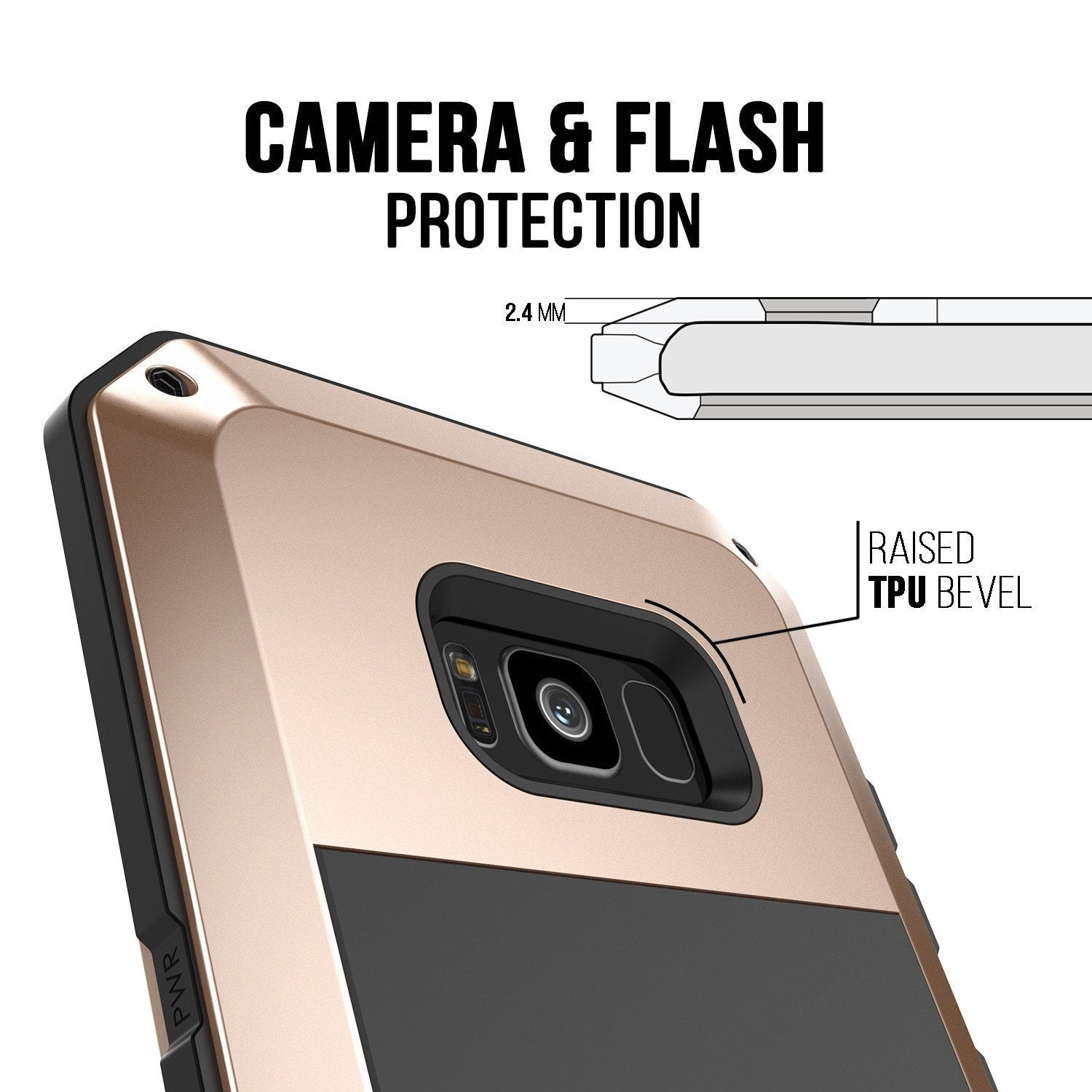Galaxy S8 Metal Case, Heavy Duty Military Grade Rugged Armor Cover [shock proof] W/ Prime Drop Protection [GOLD]