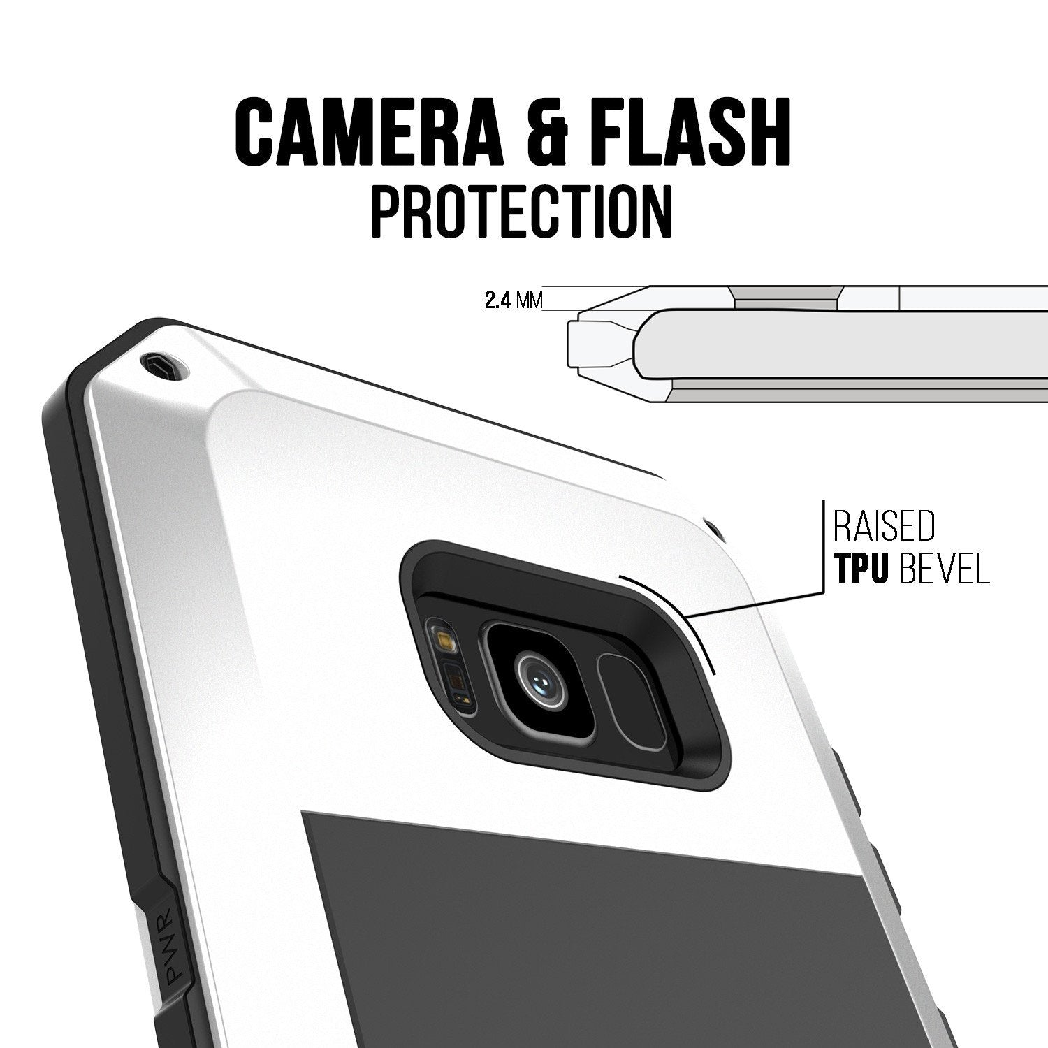 Galaxy S8 Metal Case, Heavy Duty Military Grade Rugged Armor Cover [shock proof] W/ Prime Drop Protection [WHITE]