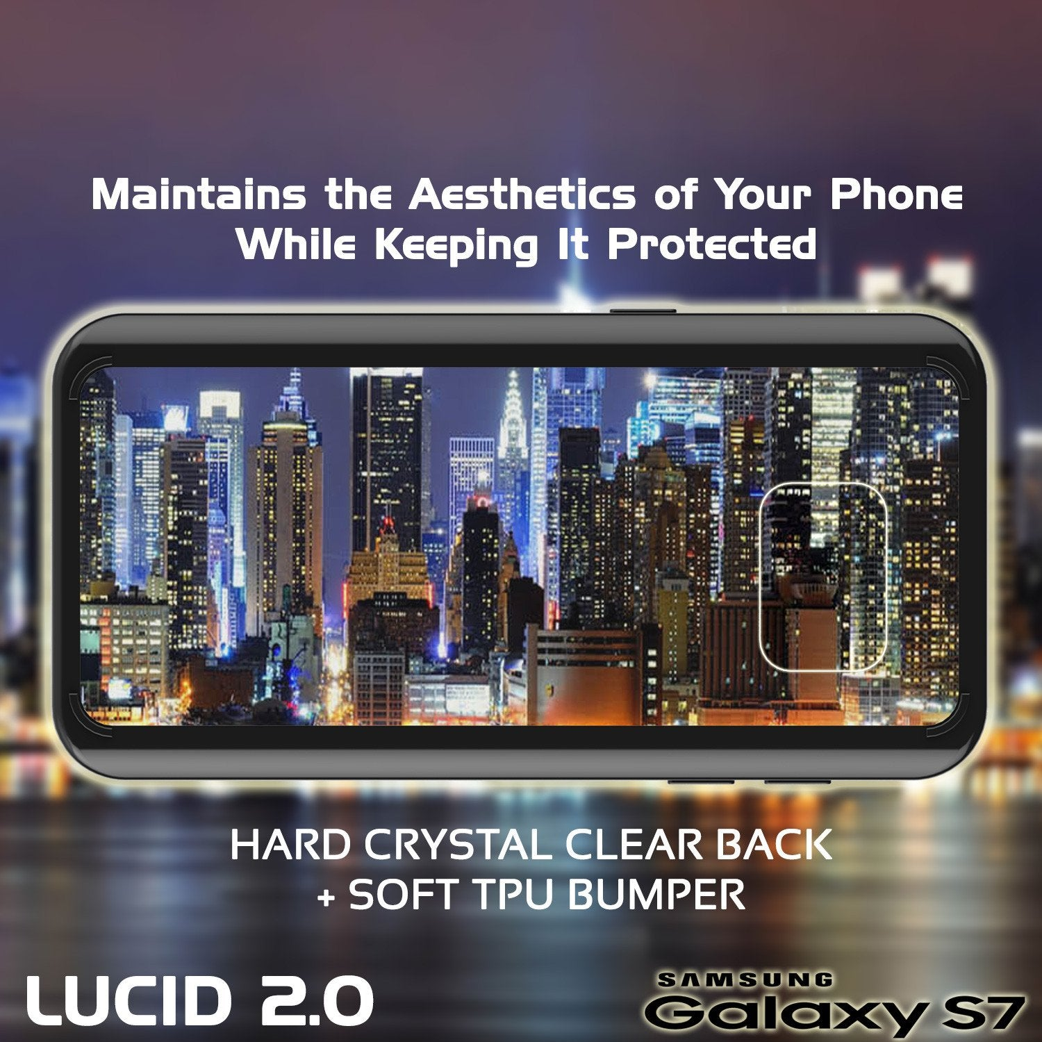 S7 Case Punkcase® LUCID 2.0 Black Series w/ PUNK SHIELD Glass Screen Protector | Ultra Fit