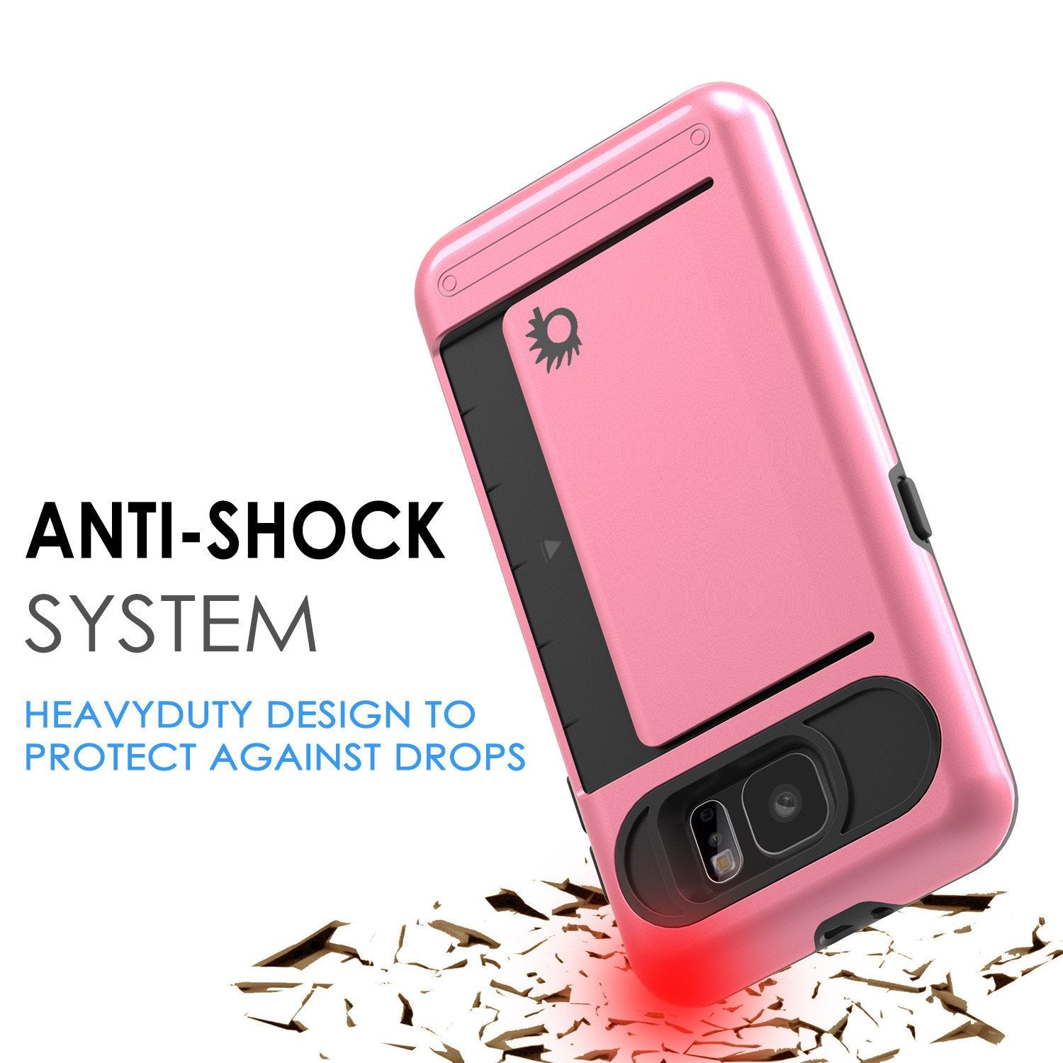 Galaxy S6 EDGE Case PunkCase CLUTCH Pink Series Slim Armor Soft Cover Case w/ Screen Protector