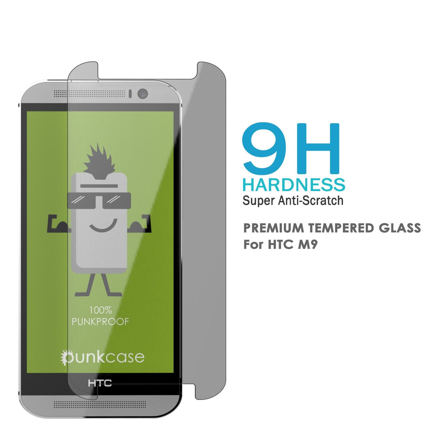 M9 Tempered Glass Screen Protector, Punkcase SHIELD HTC One M9 Tempered Glass 0.33mm Thick 9H
