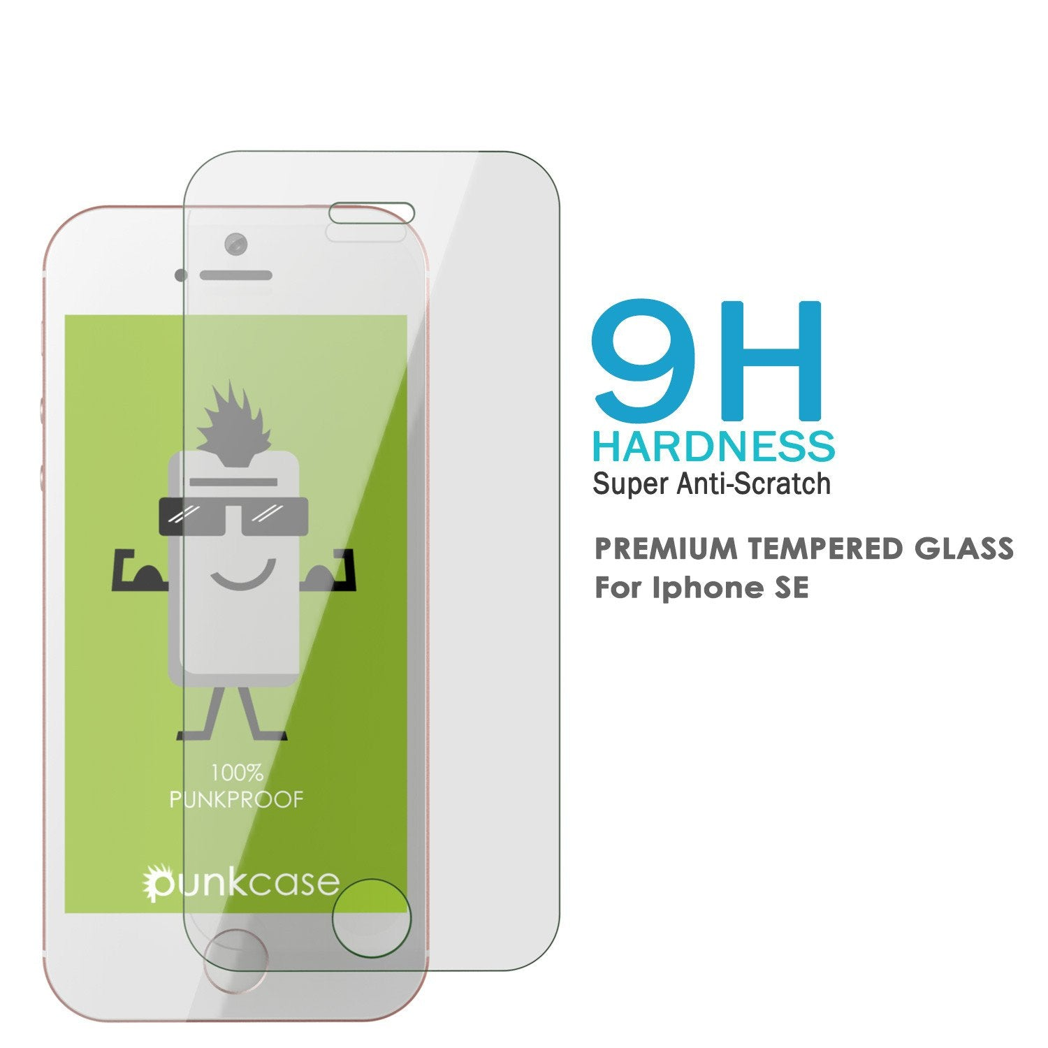 iPhone 5/5s/5c Punkcase Glass SHIELD Tempered Glass Screen Protector 0.33mm Thick 9H Glass Screen