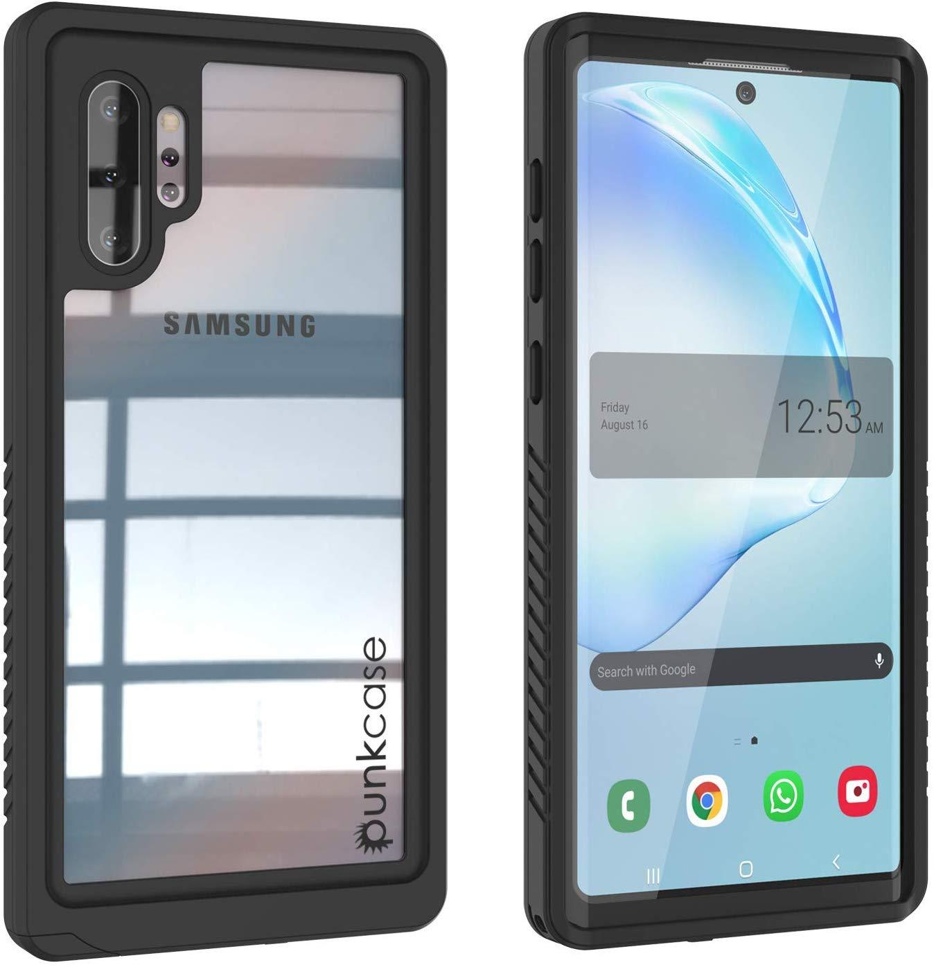 Galaxy Note 10+ Plus Case, Punkcase [Extreme Series] Armor Cover W/ Built In Screen Protector [Black]