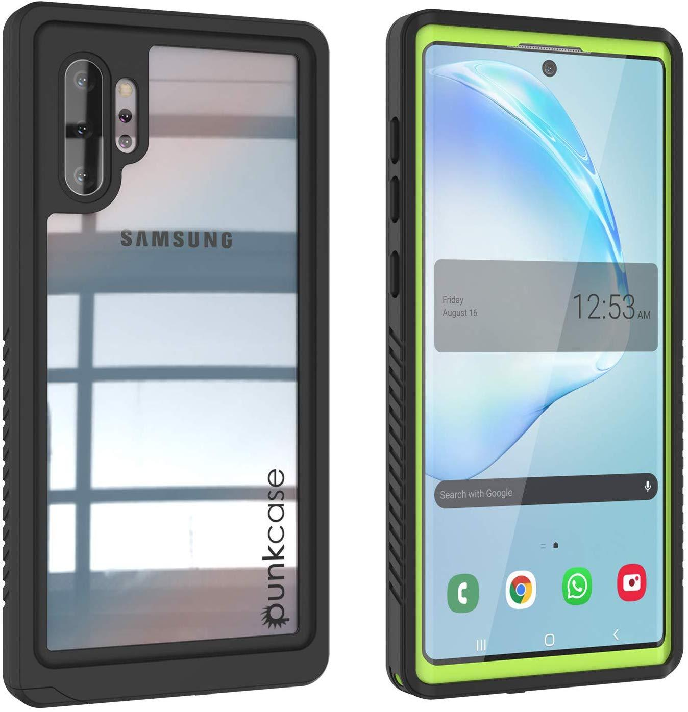 Galaxy Note 10+ Plus Case, Punkcase [Extreme Series] Armor Cover W/ Built In Screen Protector [Light Green]