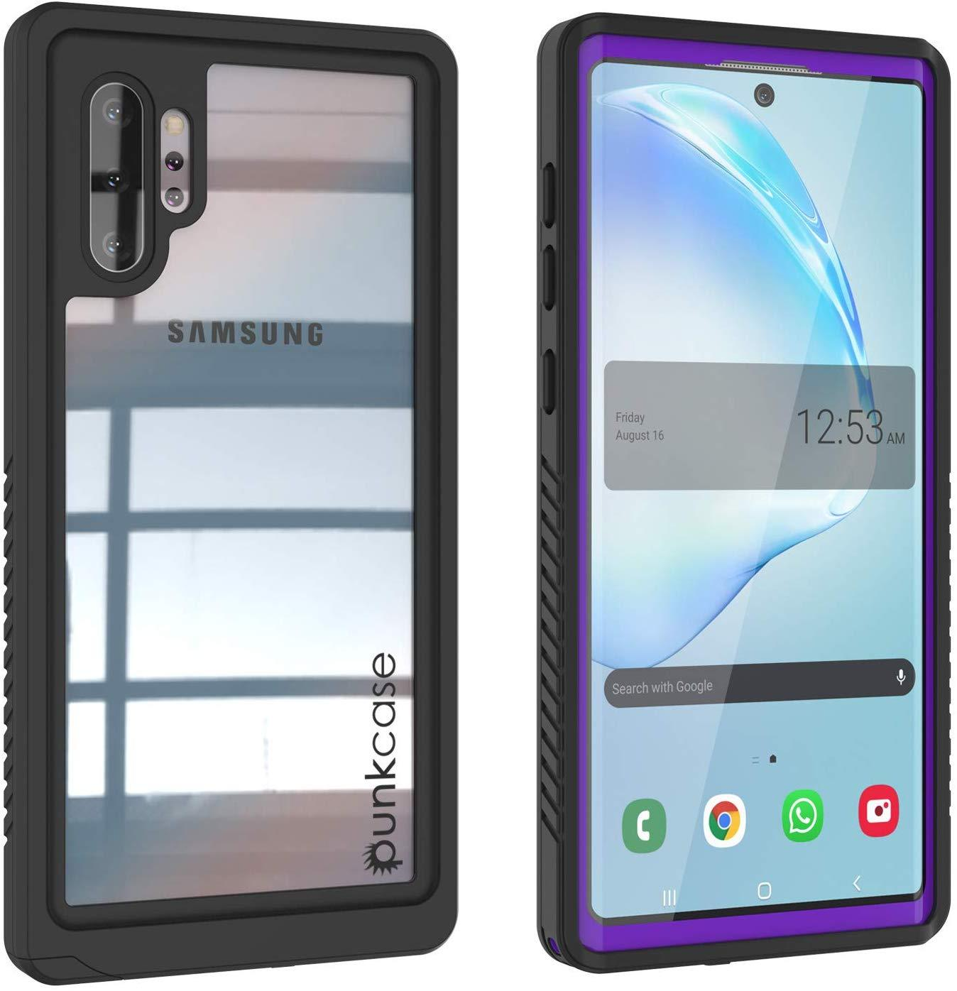 Galaxy Note 10+ Plus Case, Punkcase [Extreme Series] Armor Cover W/ Built In Screen Protector [Purple]