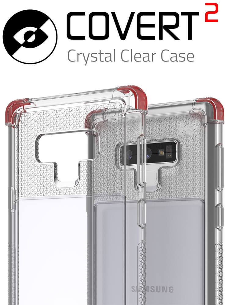 Galaxy Note 9 Case,Ghostek Covert 2 TPU Bumper Frame [Shockproof]  | Black