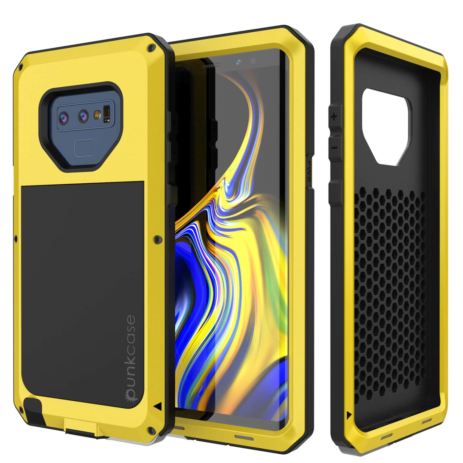 Galaxy Note 9  Case, PUNKcase Metallic Neon Shockproof  Slim Metal Armor Case [Neon]