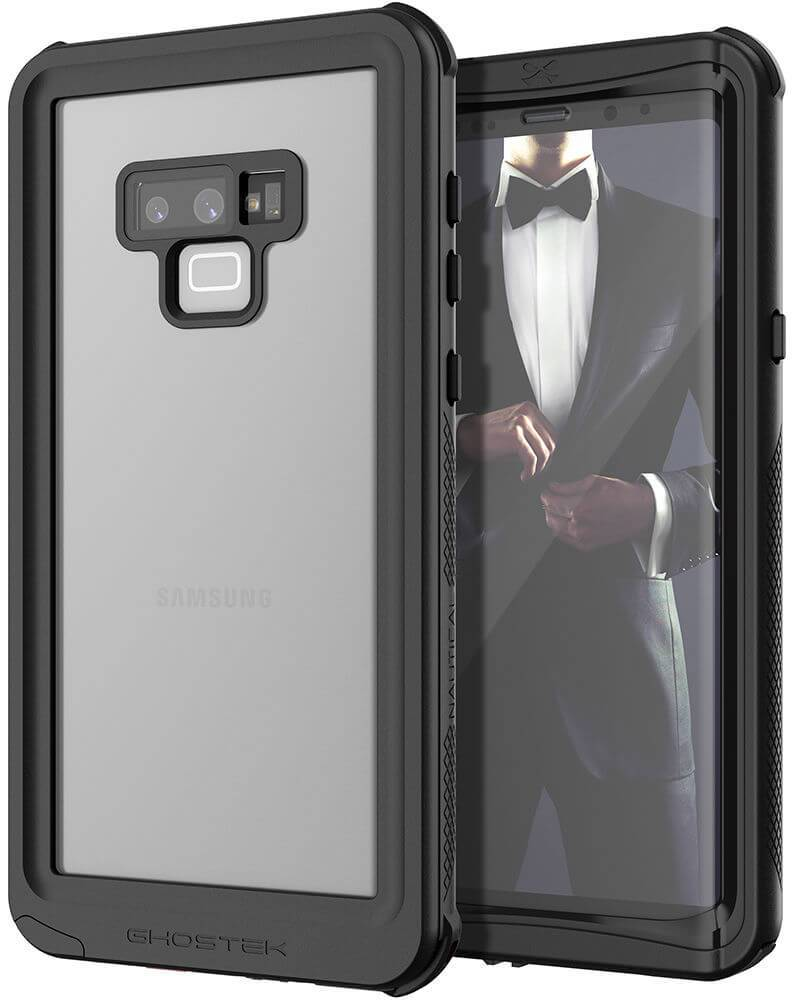 Galaxy Note 9, Ghostek Nautical Waterproof Case Full Body TPU Cover [Shockproof] | Black