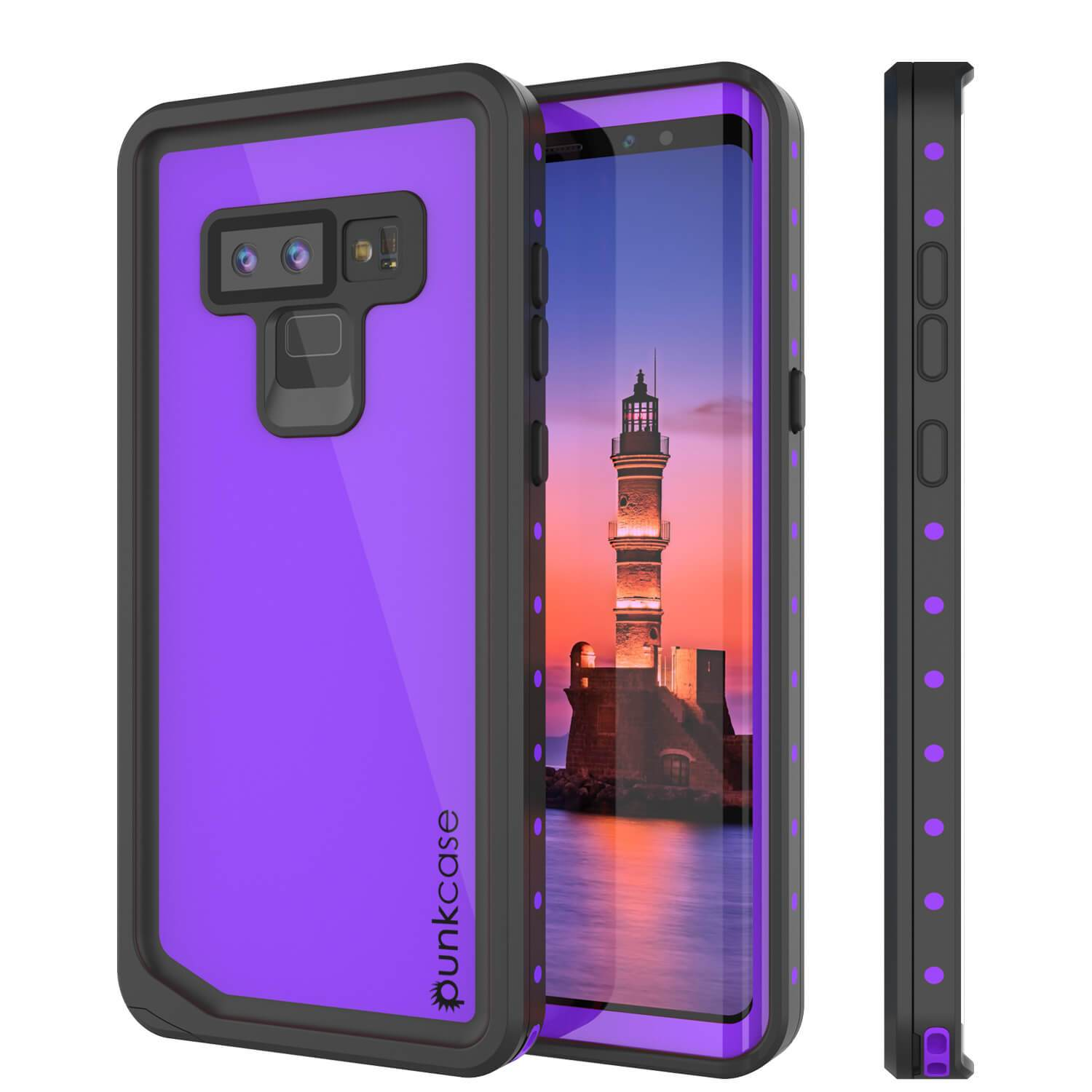 Galaxy Note 9 Waterproof Case PunkCase StudStar Purple Thin 6.6ft Underwater Shock/Snow Proof
