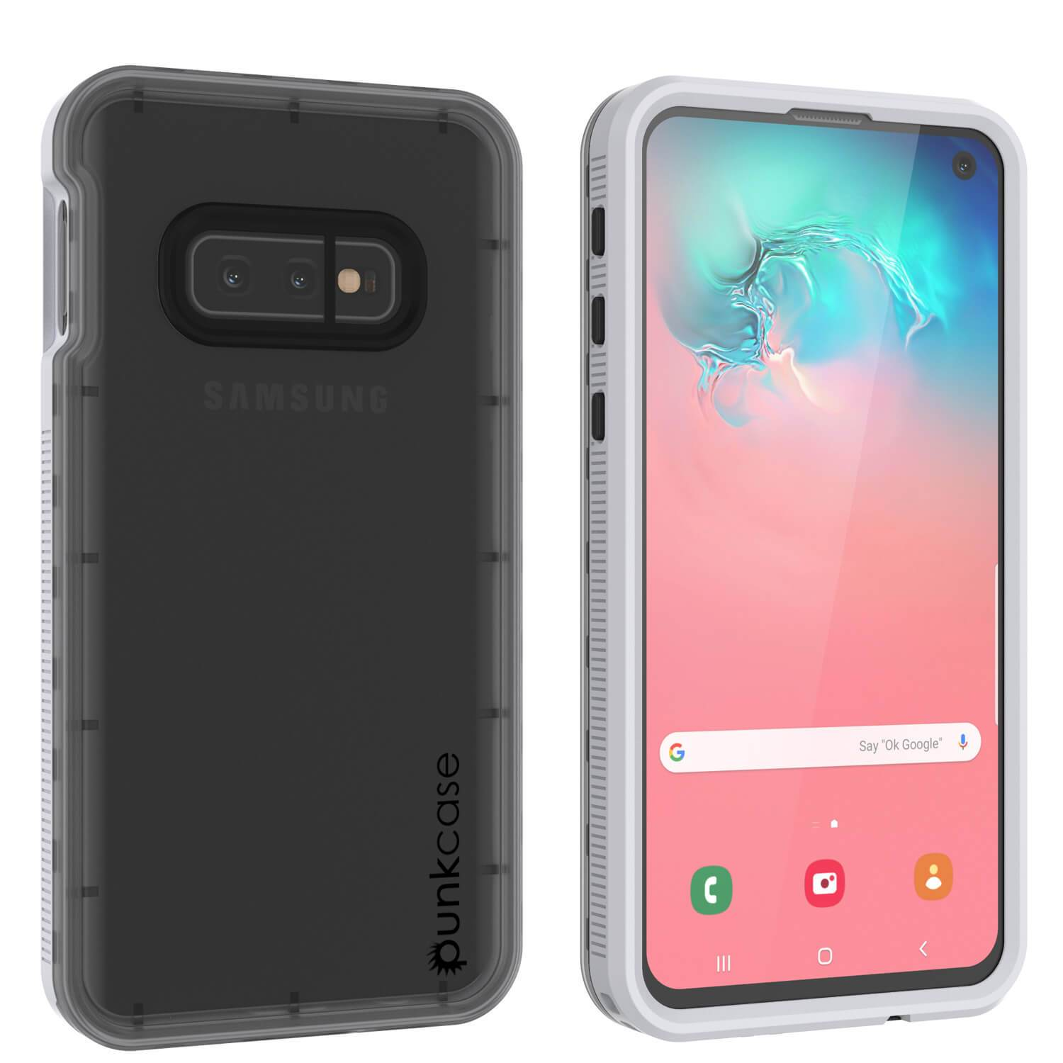 Galaxy S10e Waterproof Case, Punkcase StudStar White Thin 6.6ft Underwater IP68 Shock/Snow Proof