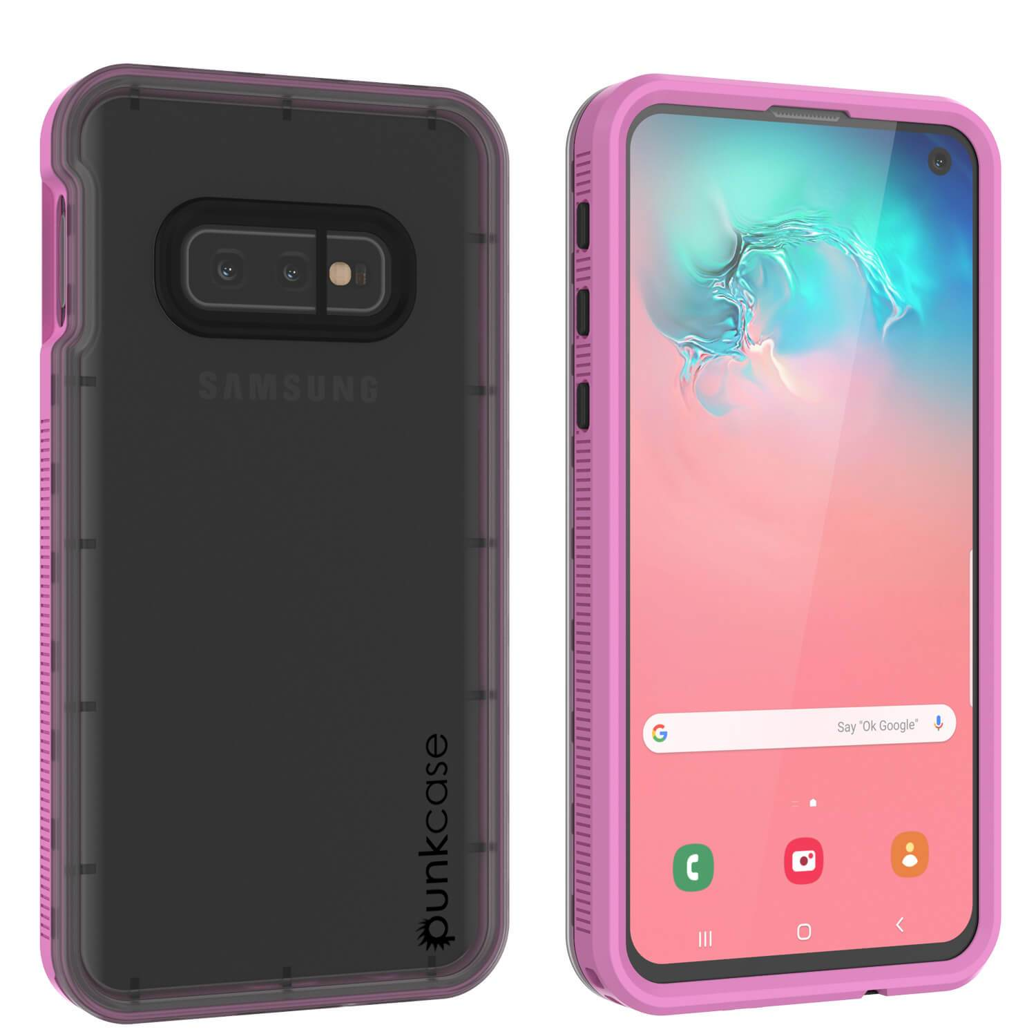Galaxy S10e Waterproof Case PunkCase StudStar Pink Thin 6.6ft Underwater IP68 Shock/Snow Proof