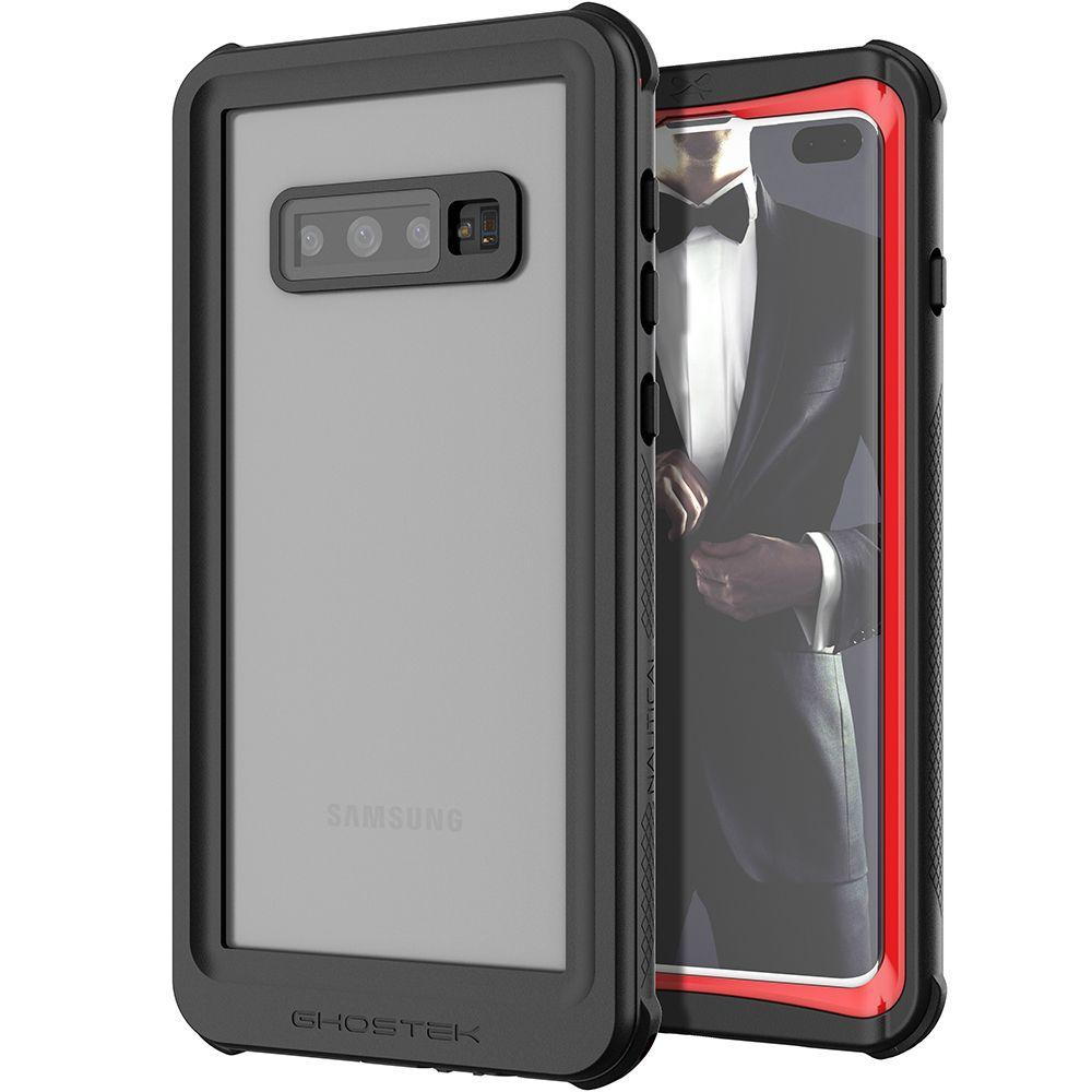 Galaxy S10+ Plus Rugged Waterproof Case | Nautical 2 Series [Red]