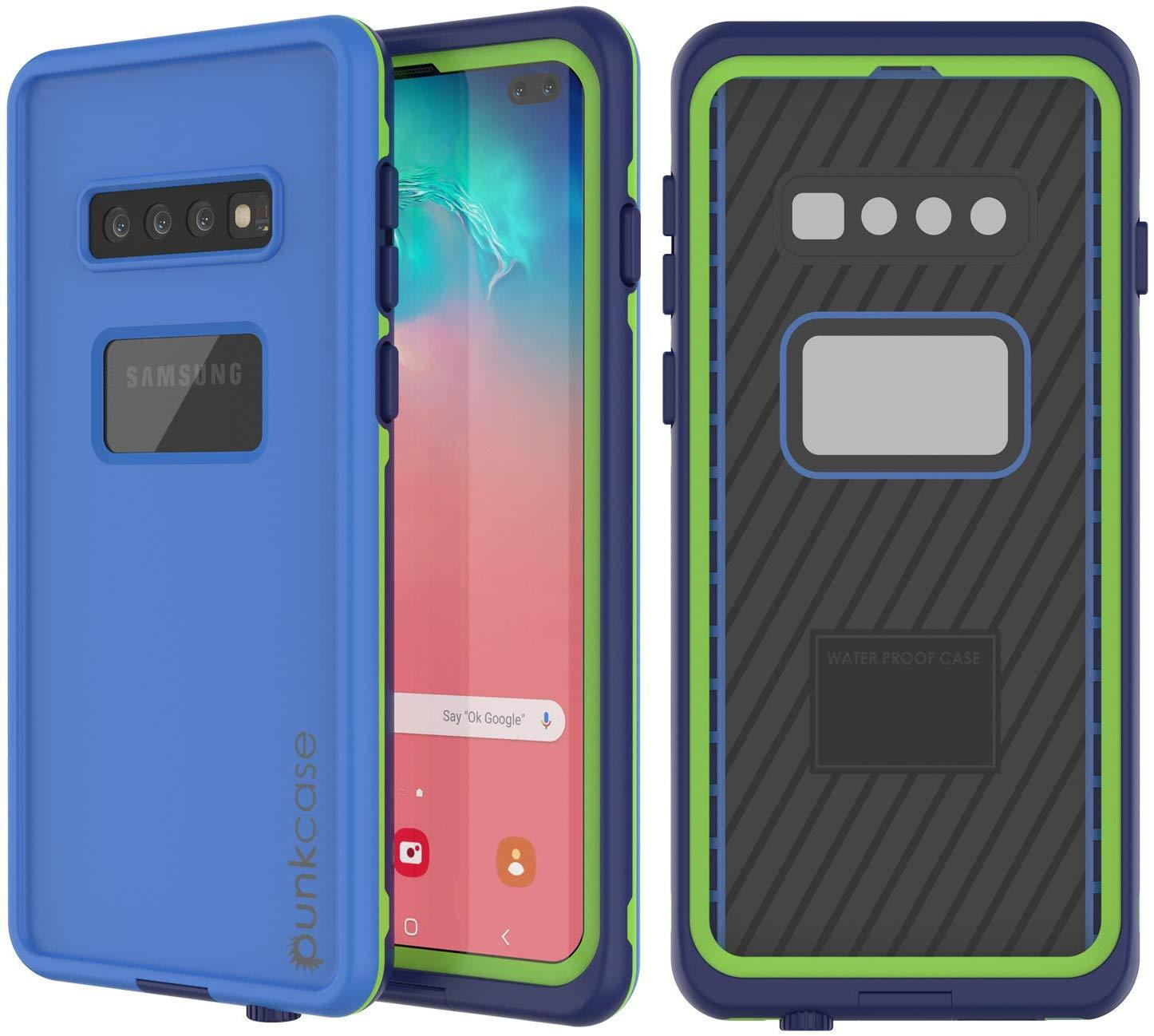 Punkcase S10+ Plus Waterproof Case [Aqua Series] Armor Cover [Blue]