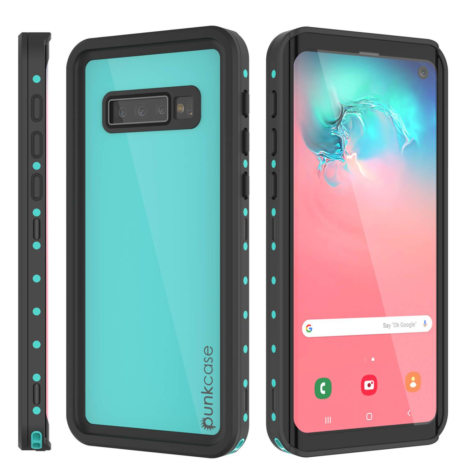 Galaxy S10 Waterproof Case PunkCase StudStar Teal Thin 6.6ft Underwater IP68 Shock/Snow Proof
