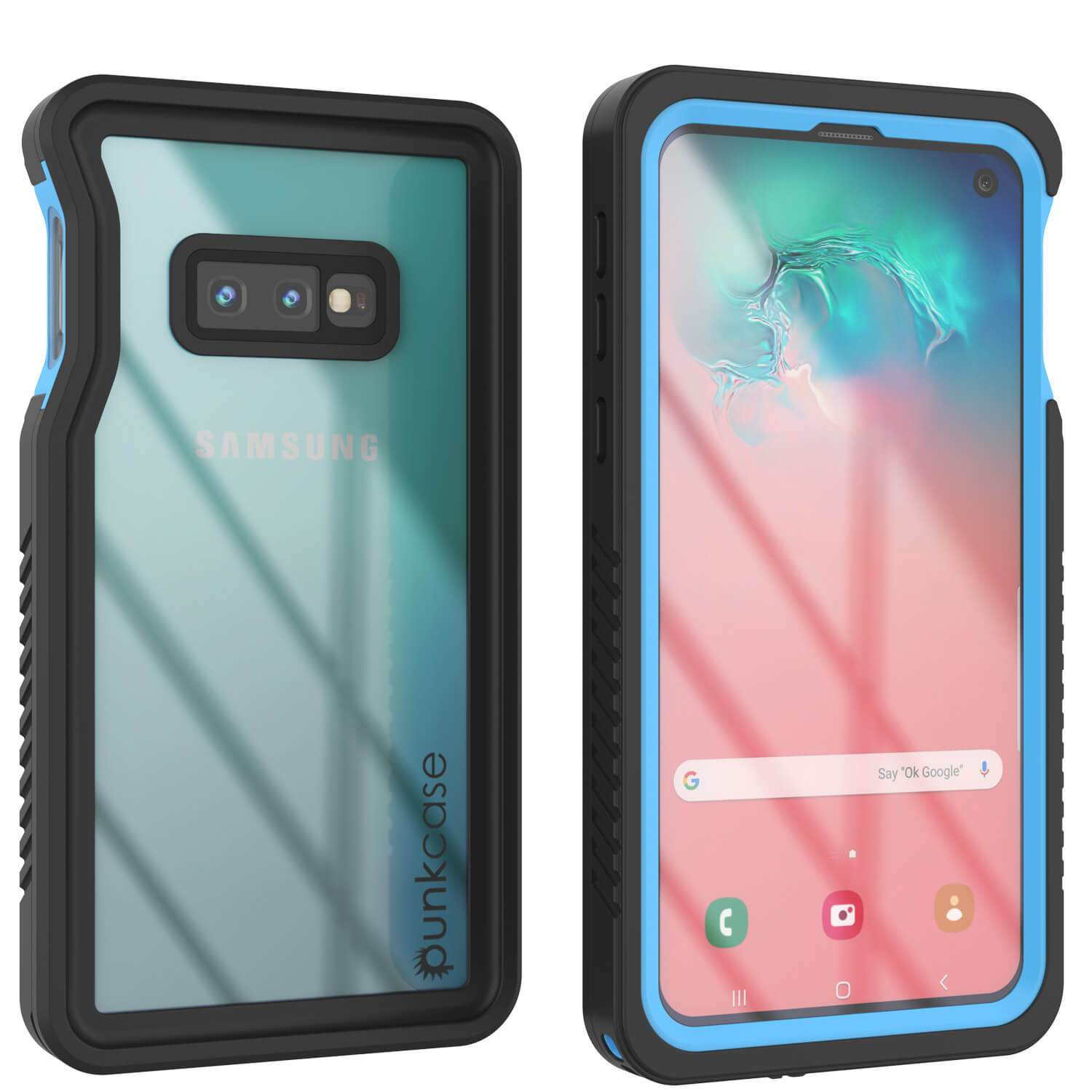Galaxy S10e Water/Shock/Snow/dirt proof Slim Case [Light Blue]