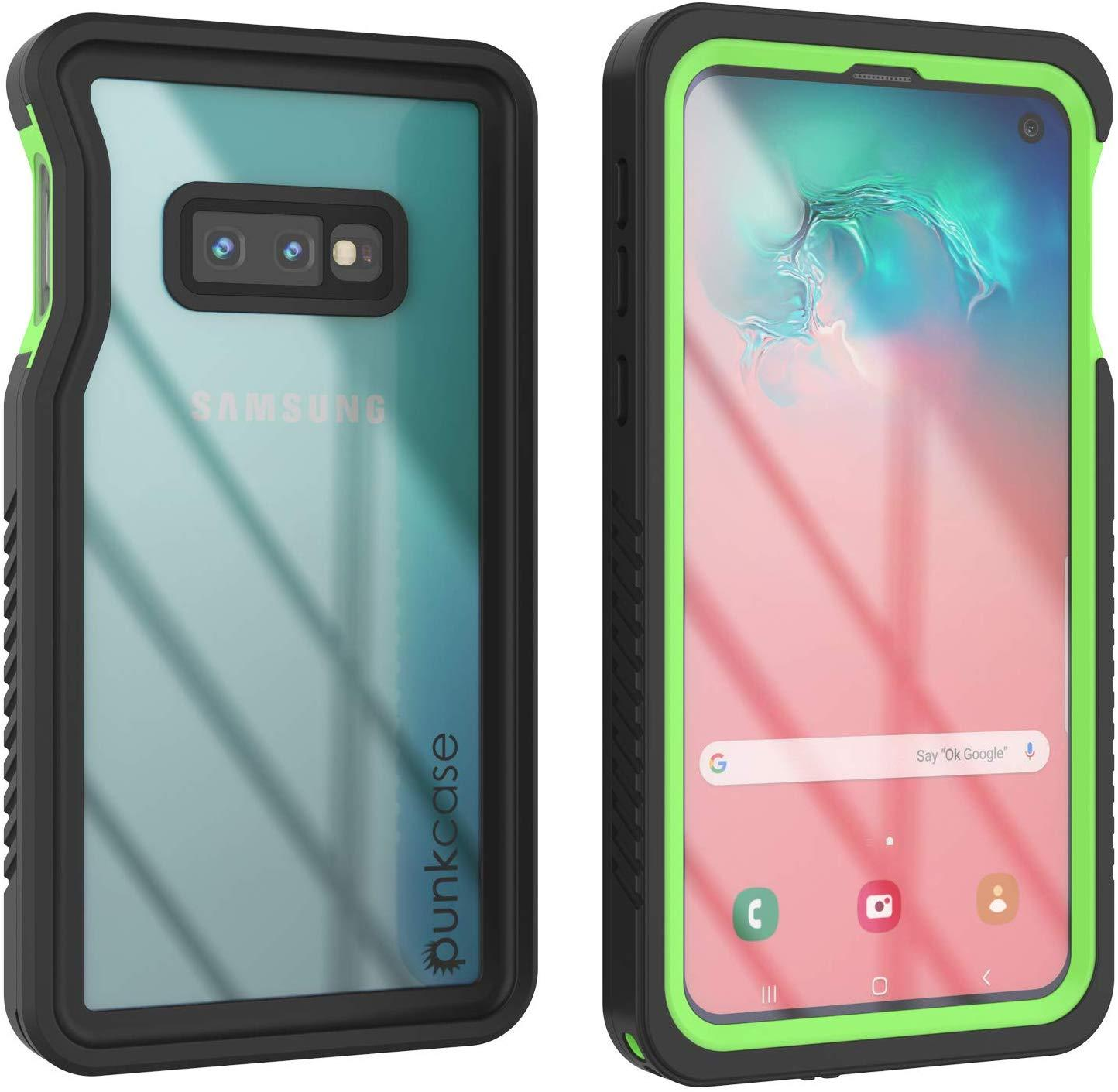 Galaxy S10e Water/Shockproof Screen Protector Case [Light Green]