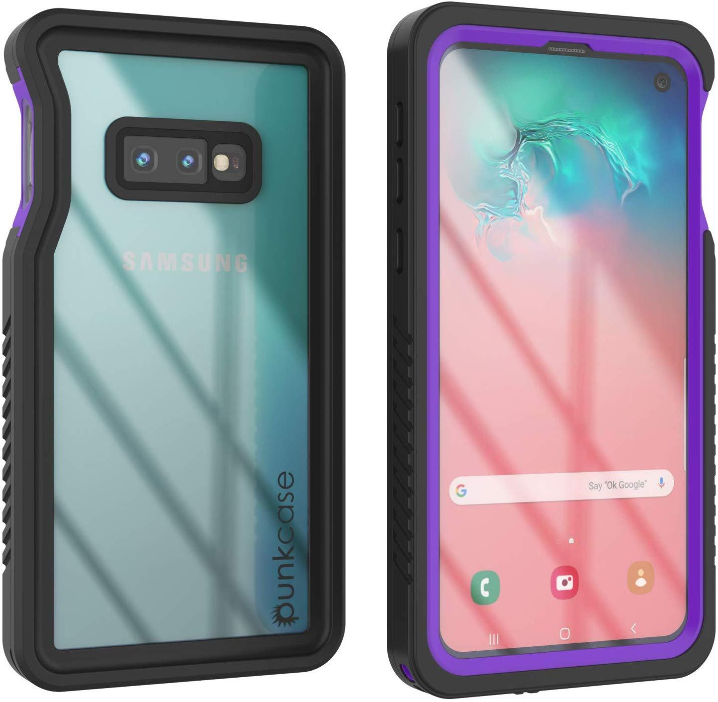 Galaxy S10e Water/Shockproof Slim Screen Protector Case [Purple]