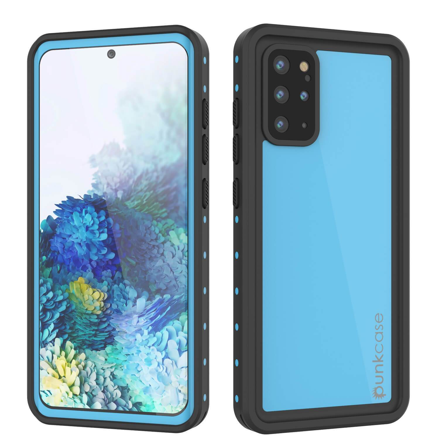 Galaxy S20+ Plus Waterproof Case PunkCase StudStar Light Blue Thin 6.6ft Underwater IP68 ShockProof