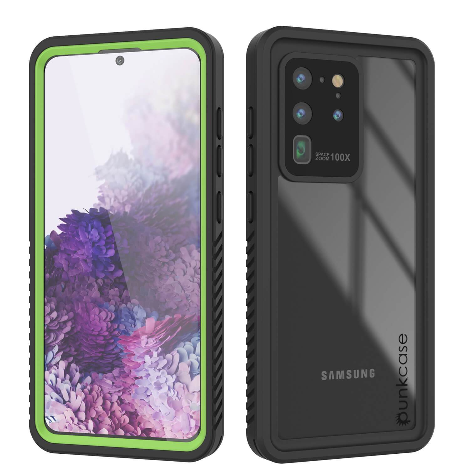 Galaxy S20 Ultra Water/Shockproof [Extreme Series] Screen Protector Case [Light Green]