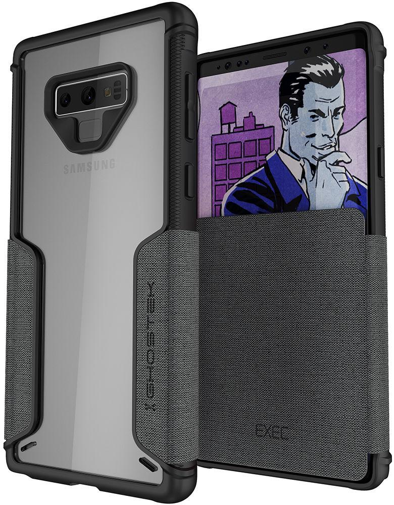 Ghostek Exec 3 Series Credit Card Flip Wallet Case for Samsung Galaxy Note 9 [Grey]