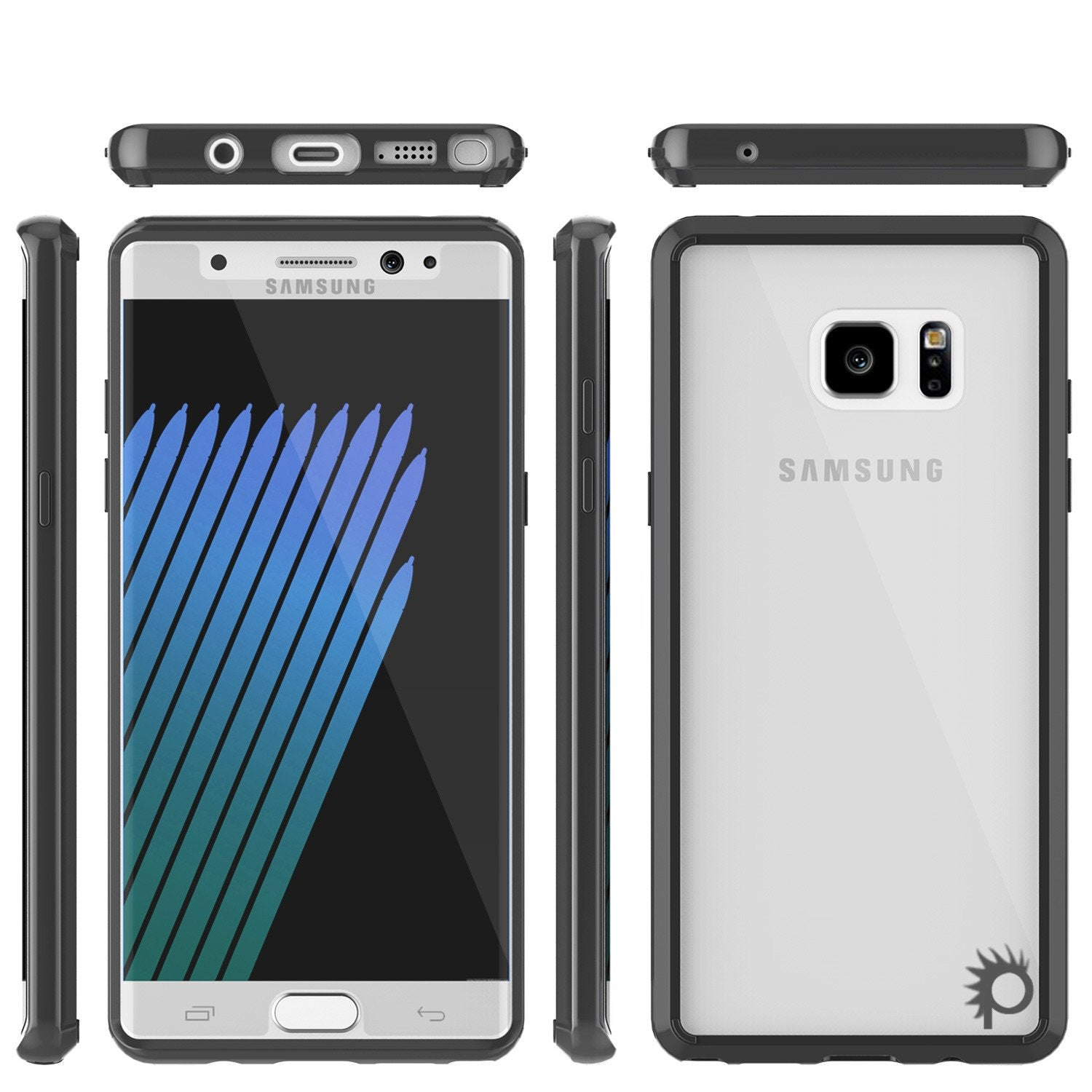 Note 7 Case Punkcase® LUCID 2.0 Black Series w/ PUNK SHIELD Screen Protector | Ultra Fit