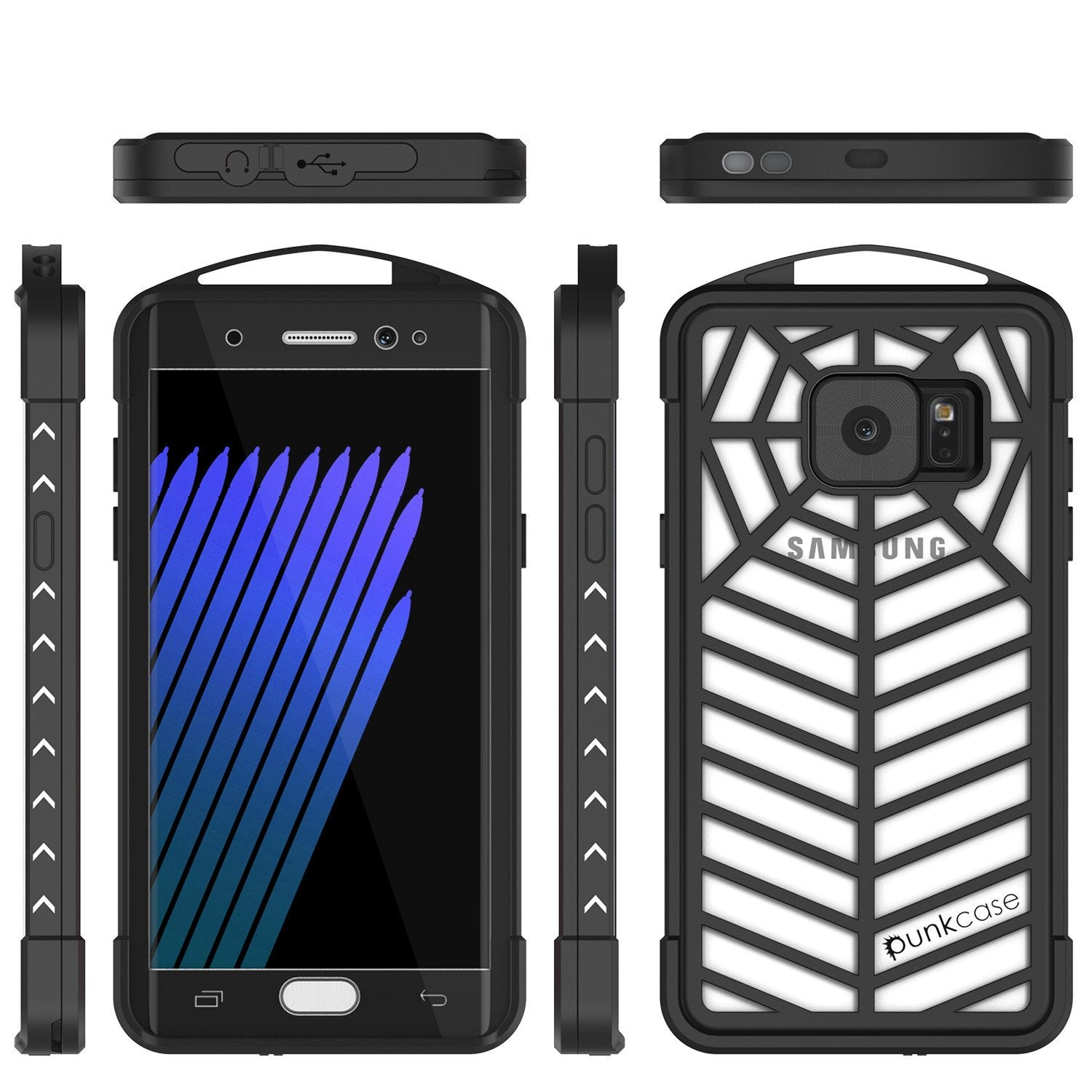 Galaxy Note 7 Waterproof Case, Punkcase WEBSTER Series, Transparent | Heavy Duty Armor Cover