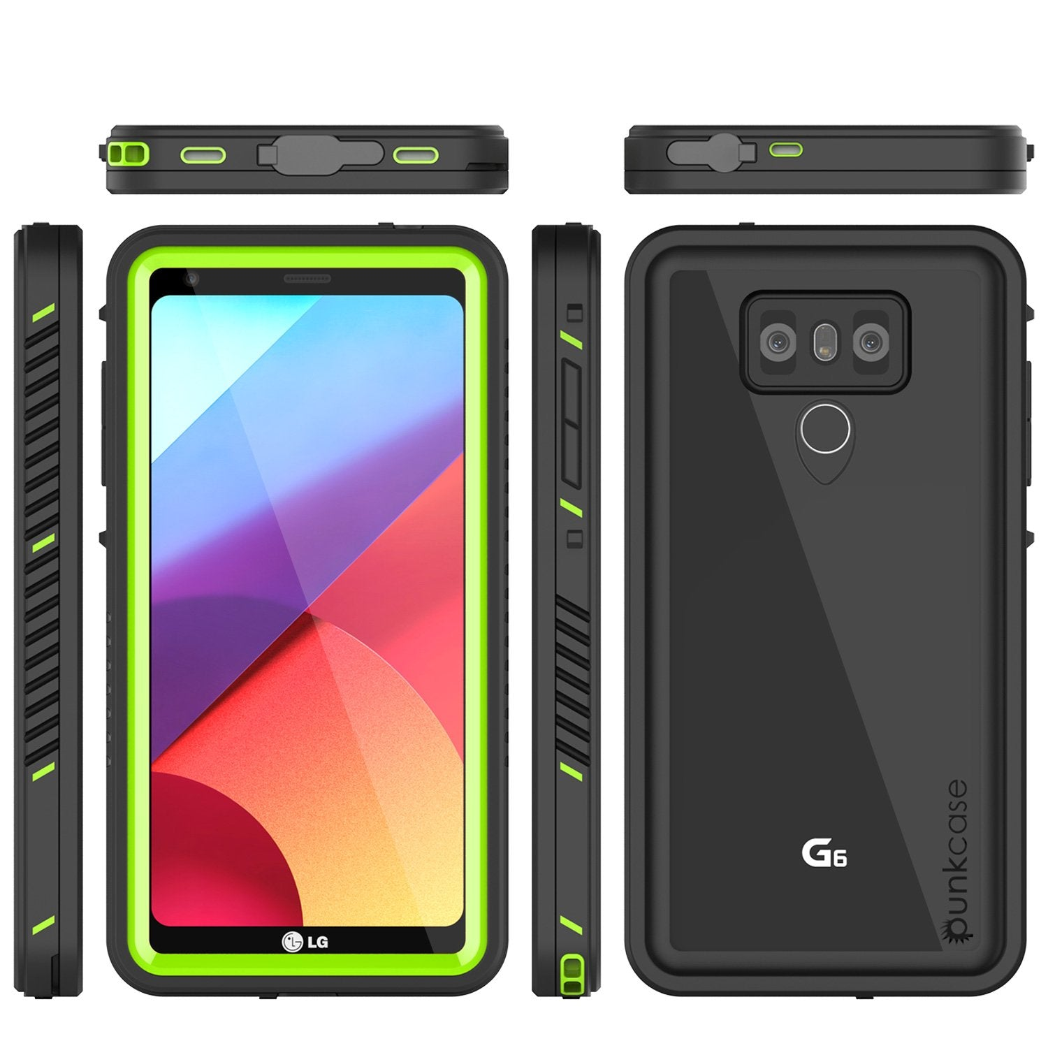 LG G6 Waterproof Case, Punkcase Extreme Series Slim Fit [GREEN]