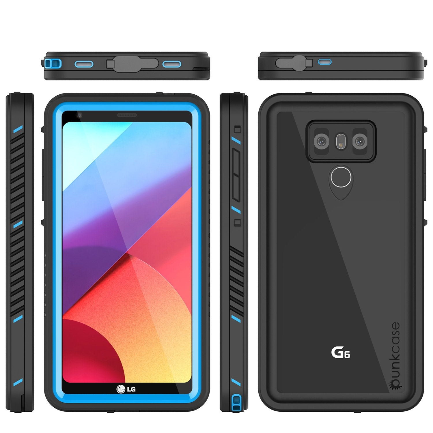 LG G6 Waterproof Case, Punkcase [Extreme Series] [Slim Fit] [IP68 Certified] [Shockproof] [Snowproof] [Dirproof] Armor Cover W/ Built In Screen Protector for LG G6 [BLUE]