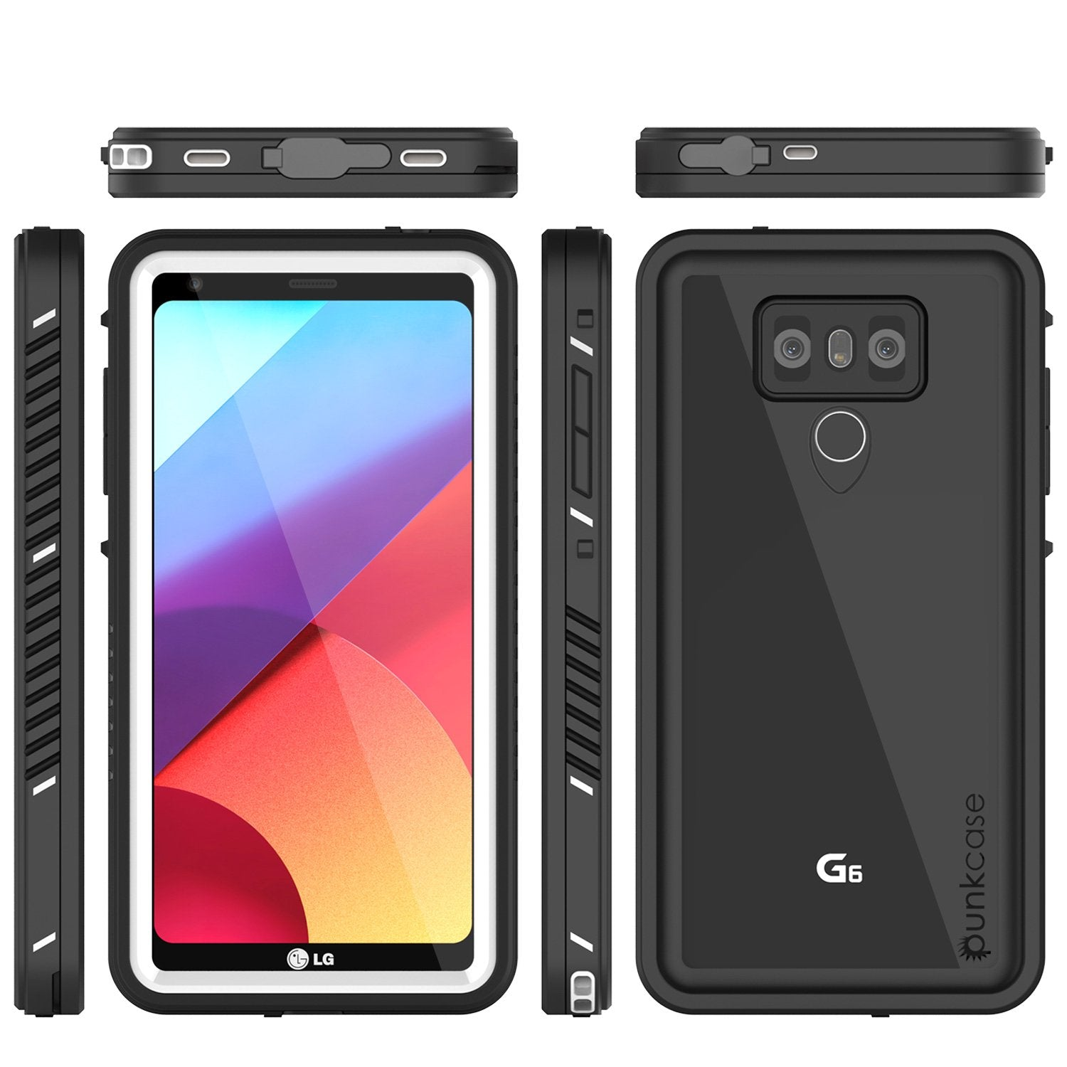LG G6 Waterproof Case, Punkcase Extreme Series Slim Fit [WHITE]