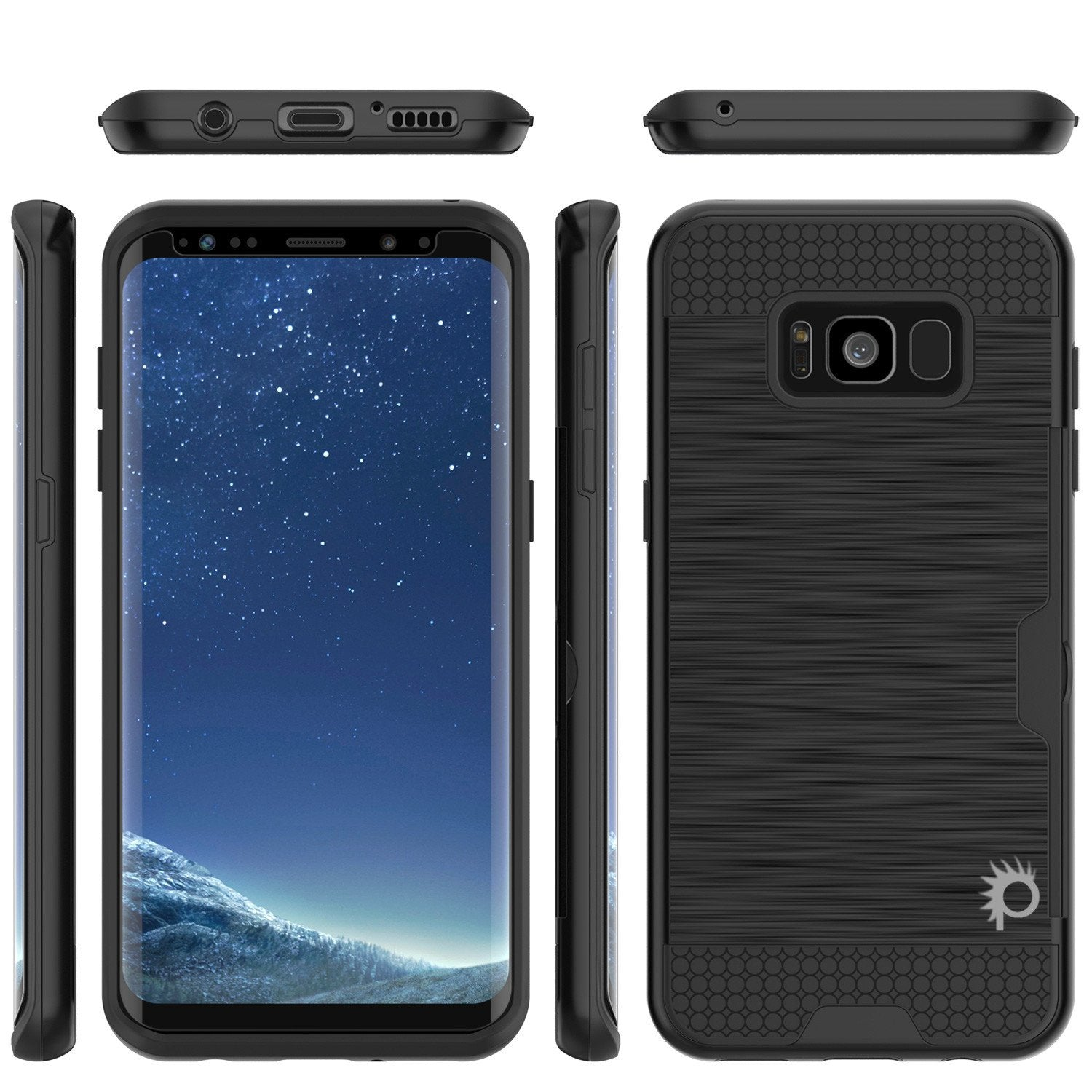 Galaxy S8 Plus Dual-Layer, Anti-Shock, SLOT Series Case [Black]