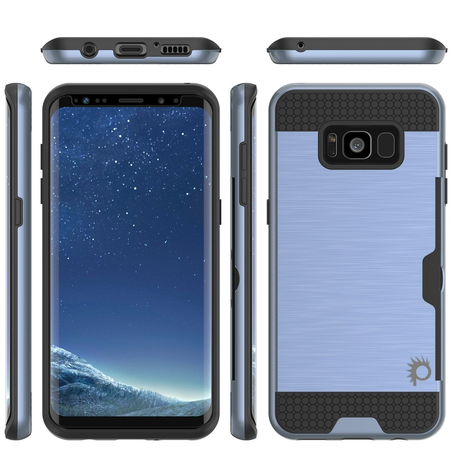 Galaxy S8 Plus Dual-Layer Anti-Shock Screen Protector Case [Navy]