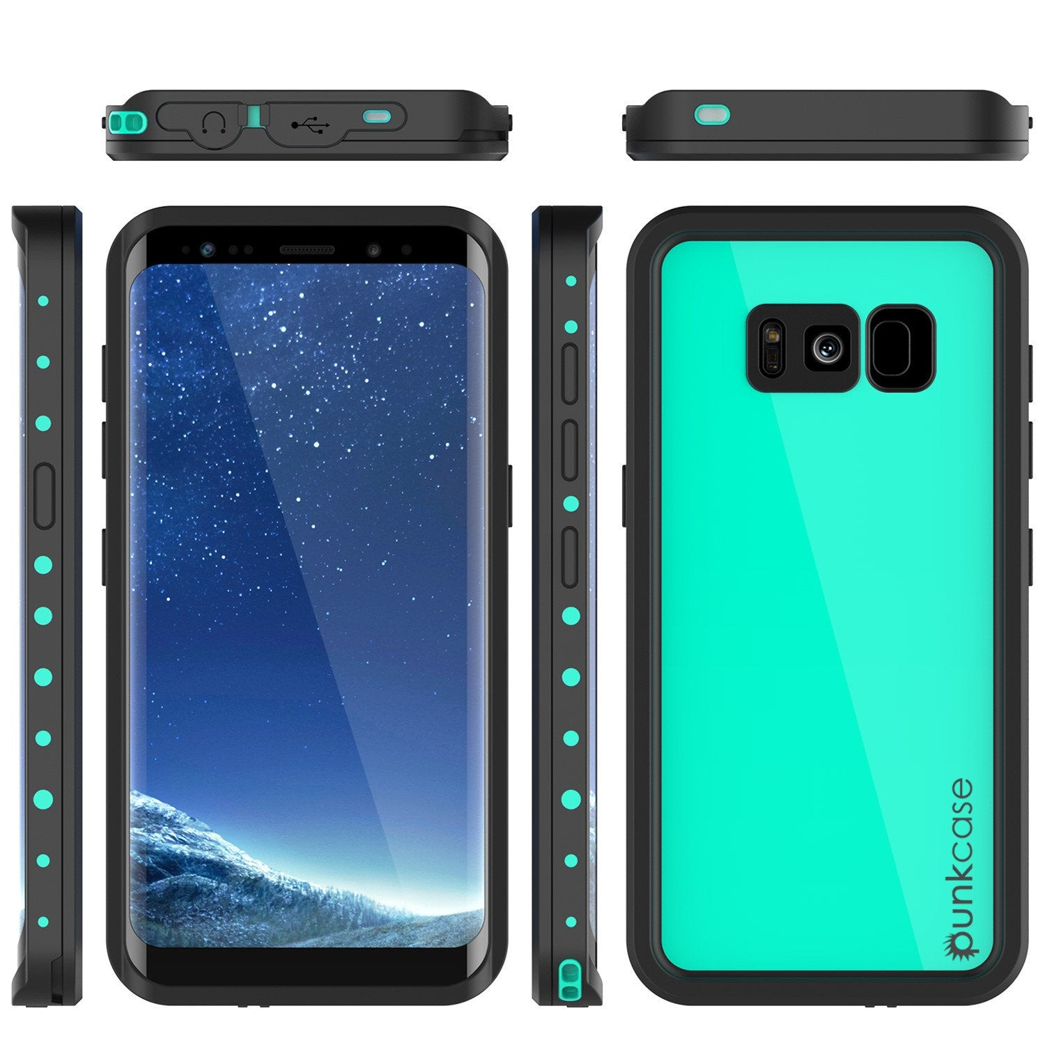 Galaxy S8 Plus Water/Dirt/Shock/Snow Proof Case [Teal]