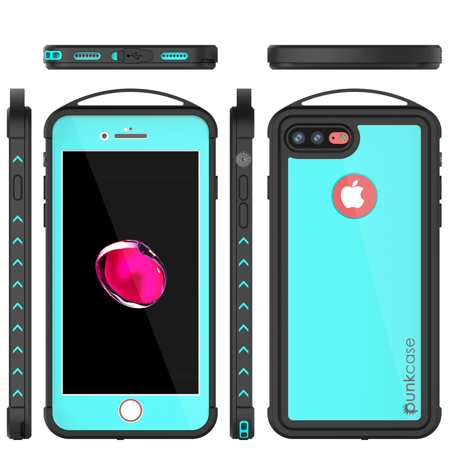 iPhone 7+ Plus Waterproof Case, Punkcase ALPINE Series, Teal | Heavy Duty Armor Cover