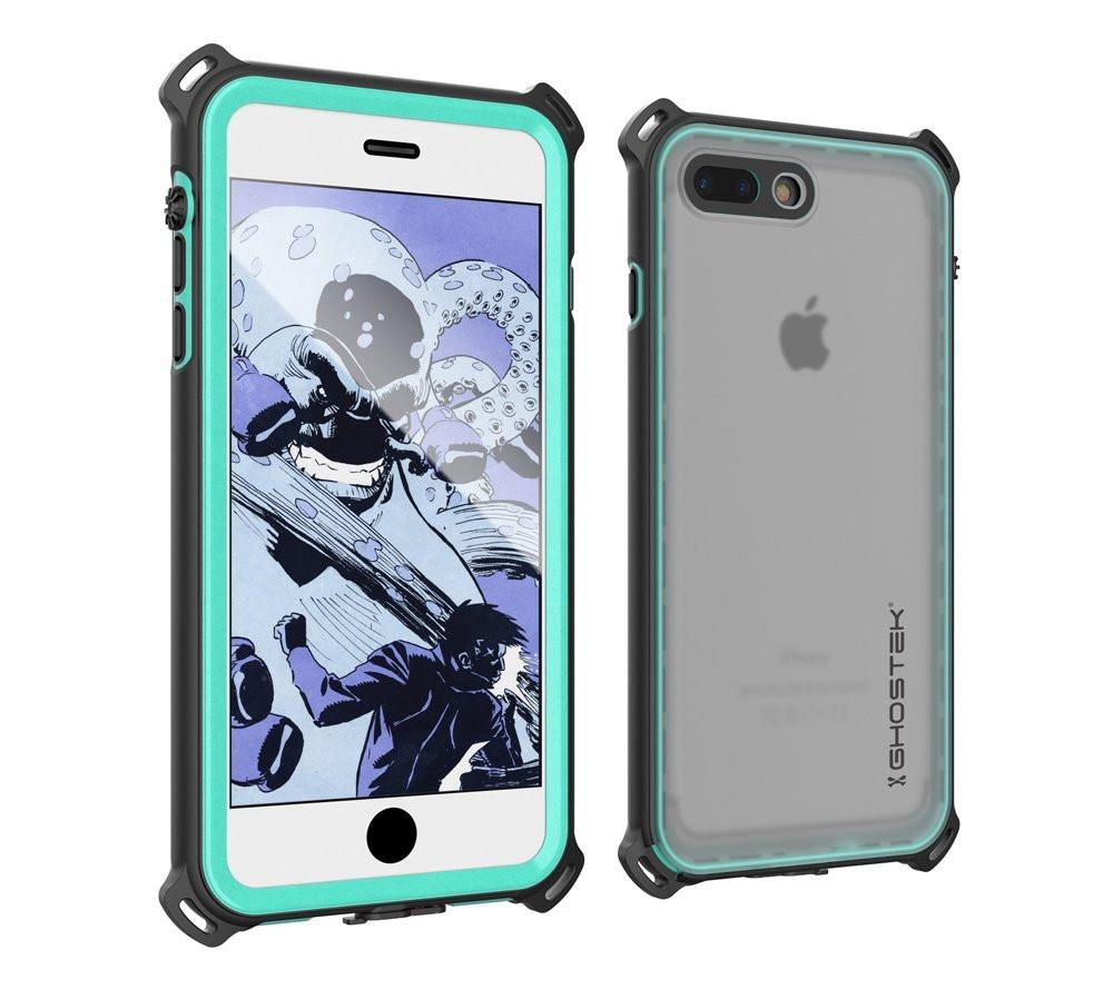 iPhone 7 Plus Waterproof Case, Ghostek Nautical Series for iPhone 7 Plus | Slim Underwater Protection | Adventure Duty | Swimming (Teal)
