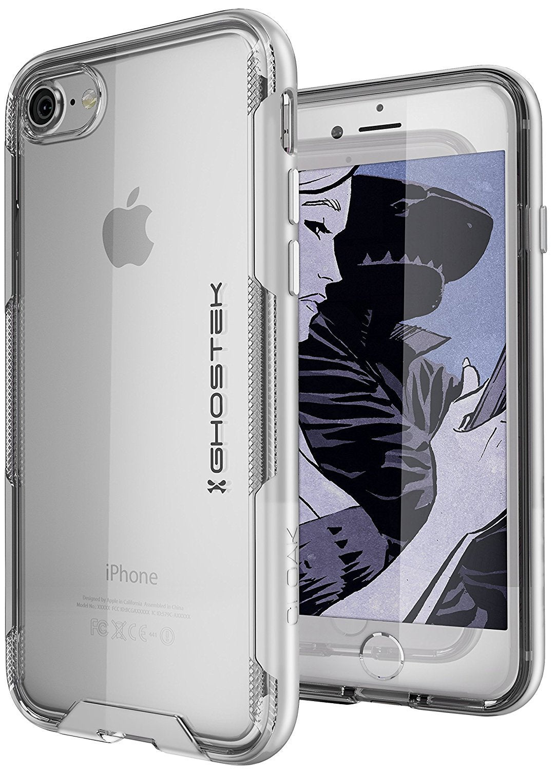 iPhone 7 Case, Ghostek Cloak 3 Series for iPhone 7 Clear Protective Case| Silver