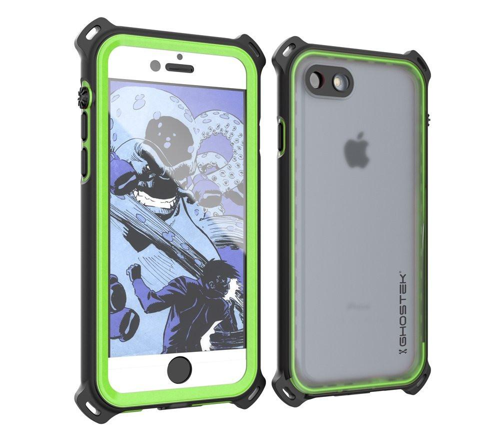 iPhone 7 Waterproof Case, Ghostek Nautical Series for iPhone 7 | Slim Underwater Protection| Adventure Duty | Ultra Fit | Swimming (Green)