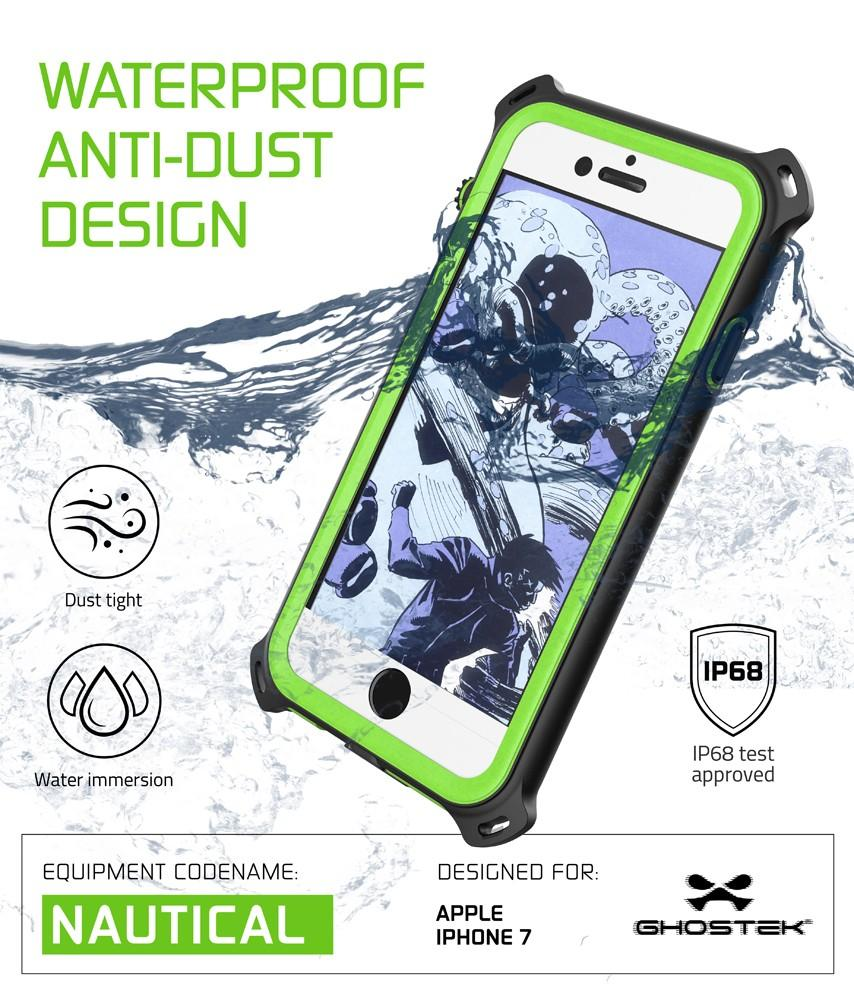 iPhone 7 Case, Ghostek Nautical Series  for iPhone 7 Case | GREEN