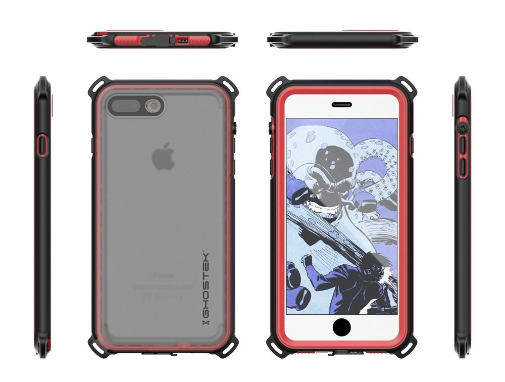 iPhone 7+ Plus case, Ghostek®  Nautical Series  for iPhone 7+ Plus Rugged Heavy Duty Case |  Red