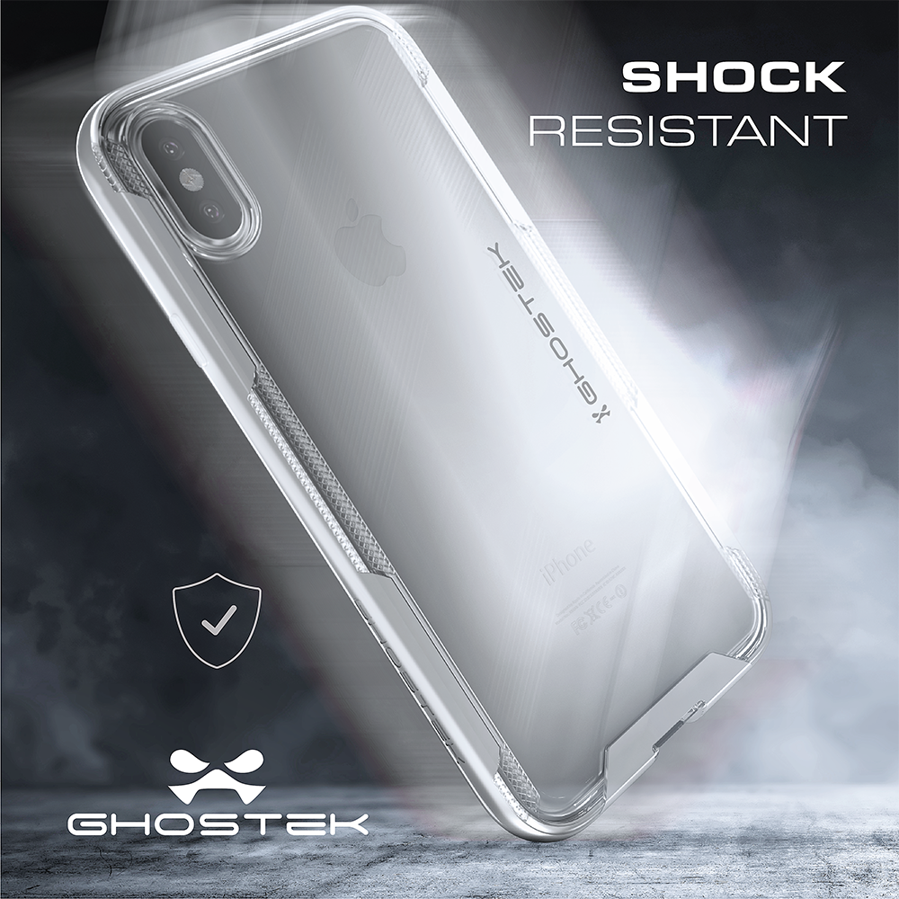iPhone X Case / iPhone 10 Cover, Ghostek Cloak3 Premium Transparent Tough Rugged Bumper + Unique Diamond Grip Face ID Compatible | Gold