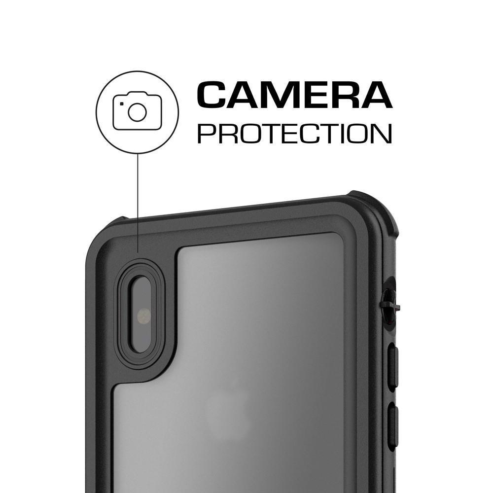 iPhone X 10 Waterproof Case, Ghostek Nautical Military Grade Shock & Drop Tested | Face ID Compatible – Retail Packaging | Black