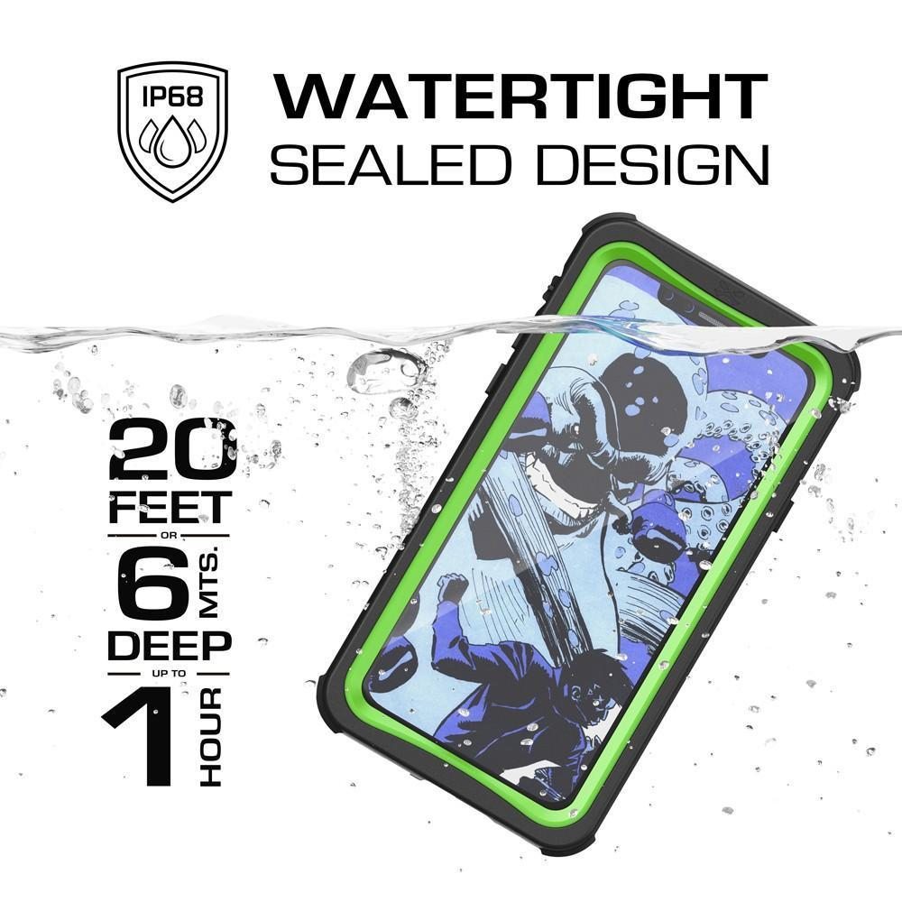 iPhone X Waterproof Case, Ghostek Nautical Rugged Heavy Duty + Screen Protector | Premium Protective Construction iPhone10 | Green