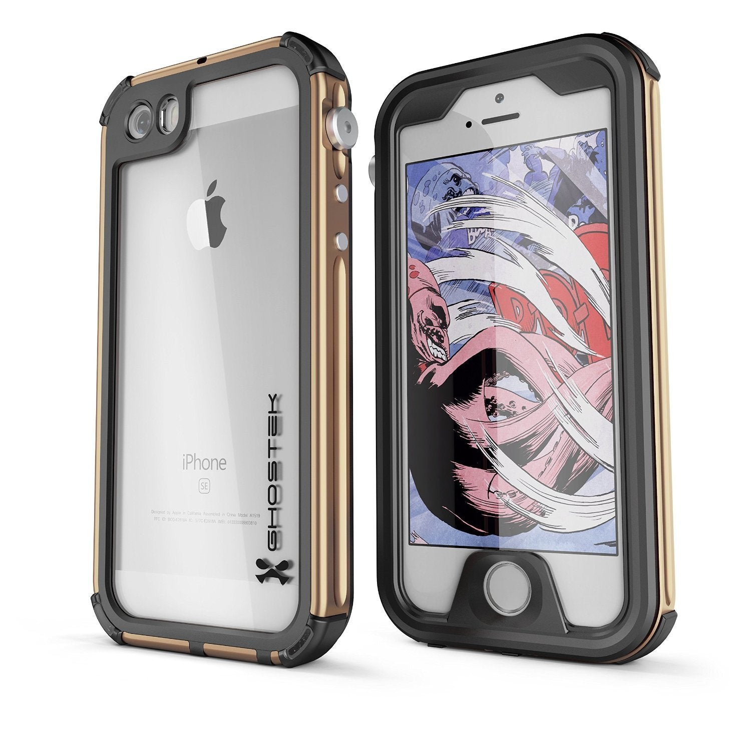 iPhone SE Waterproof Case, Ghostek® Atomic 3.0 Gold Series for Apple iPhone 5, 5S & SE