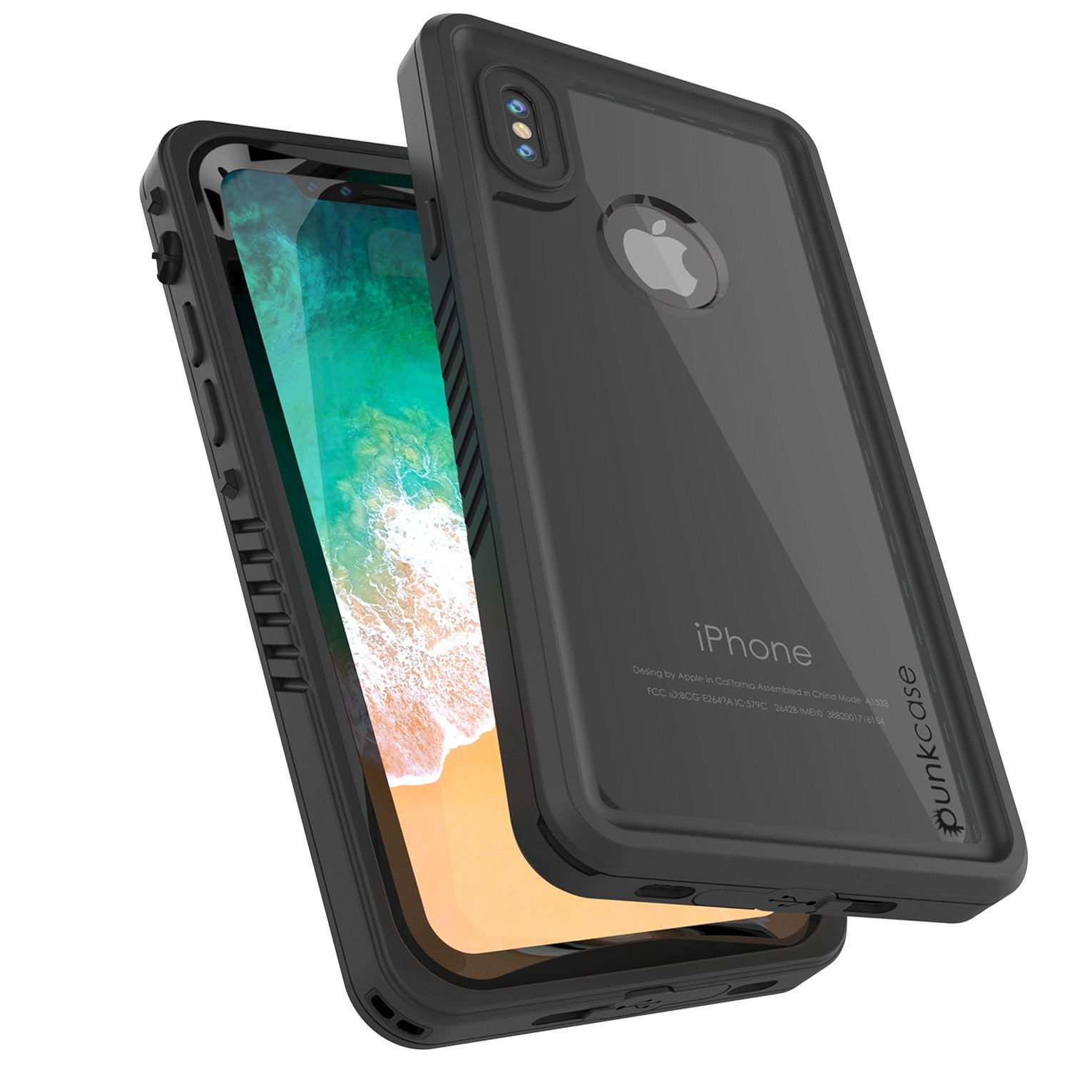 iPhone X Case, Punkcase [Extreme Series] [Slim Fit] [IP68 Certified] [Shockproof] [Snowproof] [Dirproof] Armor Cover W/ Built In Screen Protector for Apple iPhone 10 [BLACK]