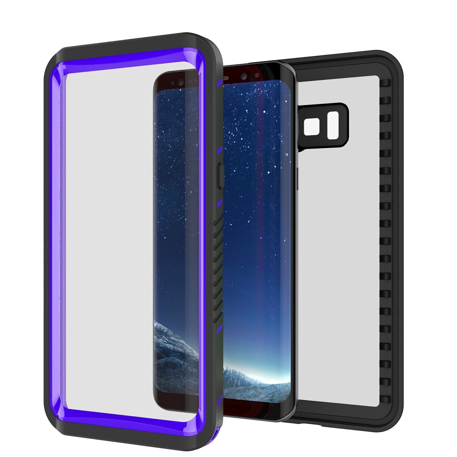 Galaxy S8 Case, Punkcase [Extreme Series] Armor Purple Cover