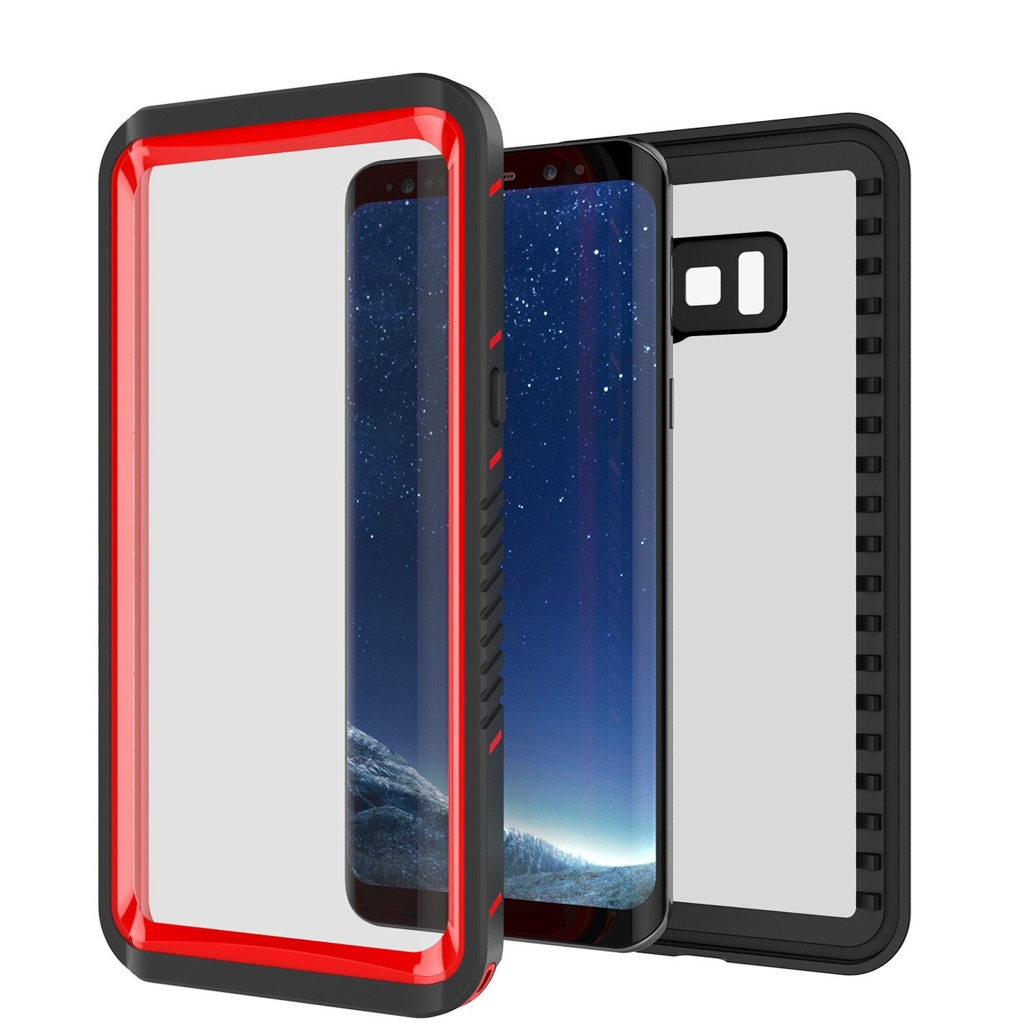Galaxy S8 Case, Punkcase [Extreme Series] Armor Red Cover