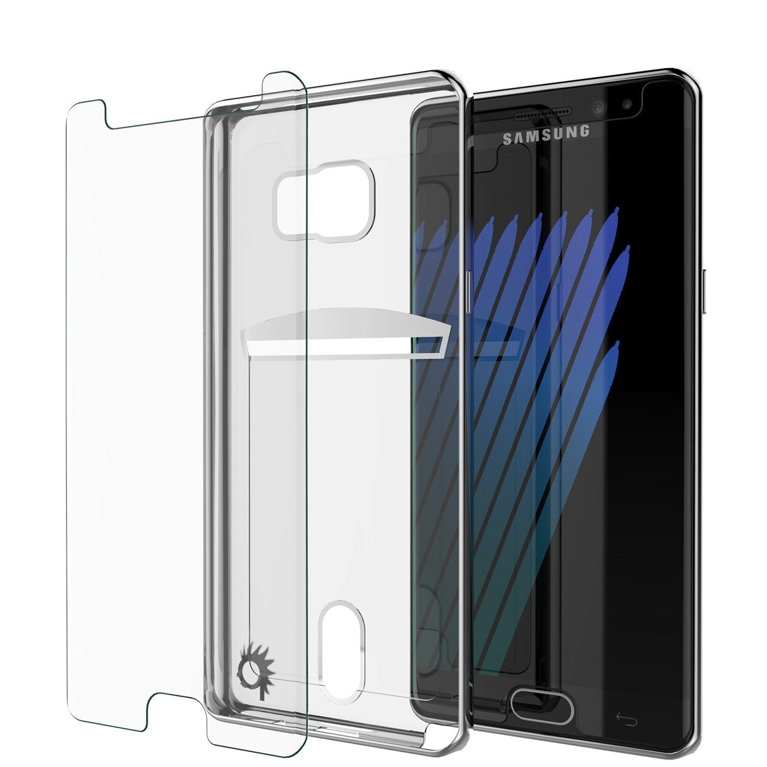 Galaxy Note 7 Case, PUNKCASE® LUCID Silver Series | Card Slot | SHIELD Screen Protector | Ultra fit