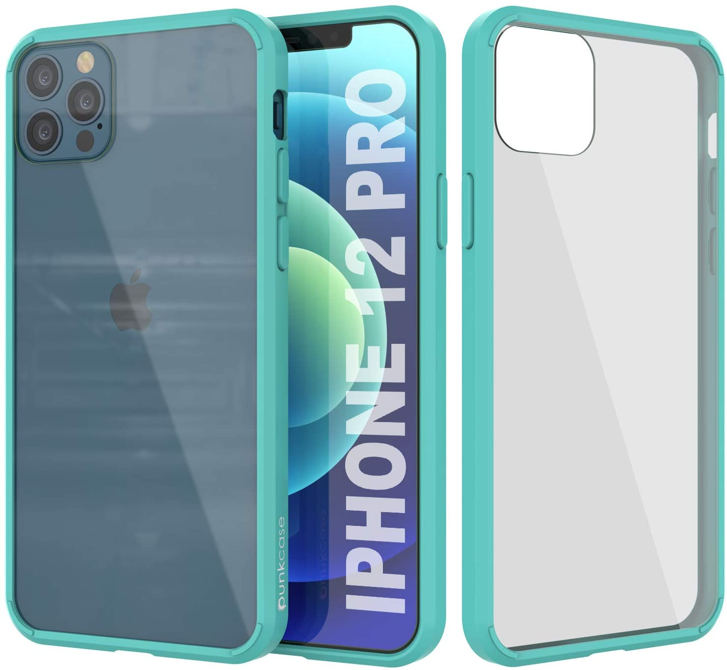 iPhone 12 Pro Case Punkcase® LUCID 2.0 Teal Series w/ PUNK SHIELD Screen Protector | Ultra Fit
