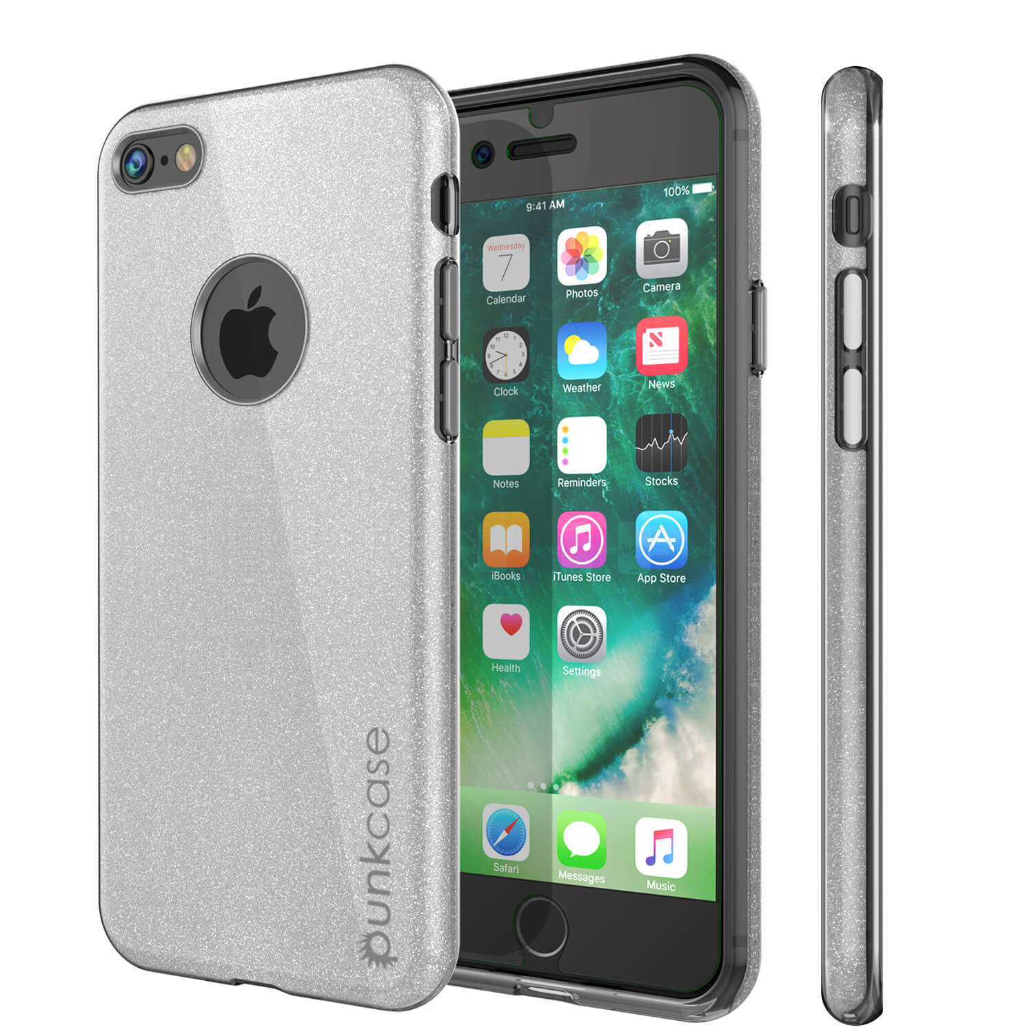 iPhone 6s/6 Case PunkCase Galactic SIlver Series Slim w/ Tempered Glass | Lifetime Warranty
